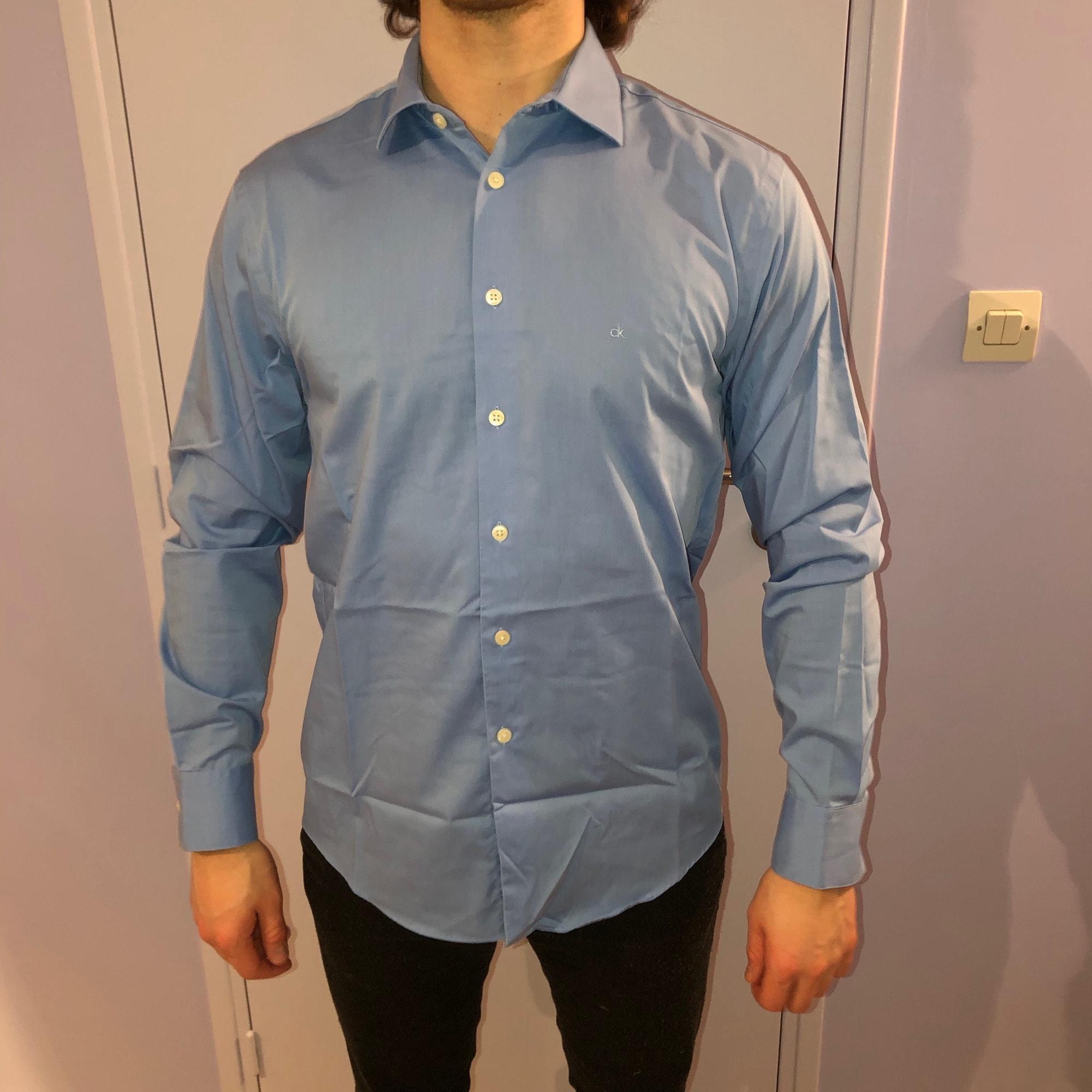 Chemise CALVIN KLEIN Bleu, bleu marine, bleu turquoise