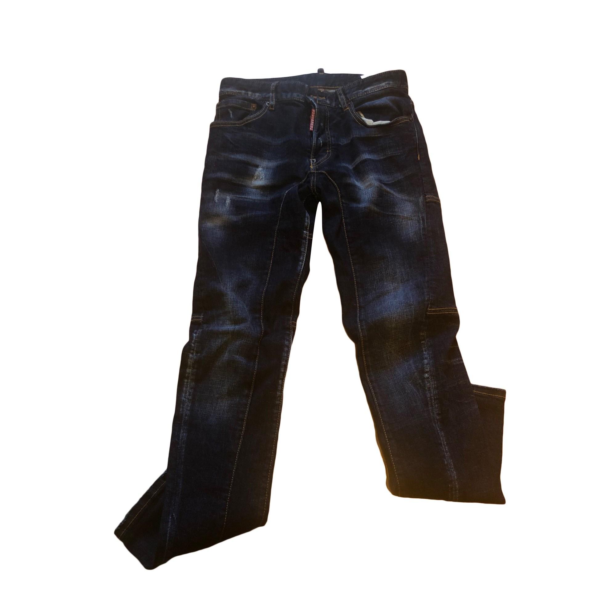 Jeans slim DSQUARED2 Blu, blu navy, turchese