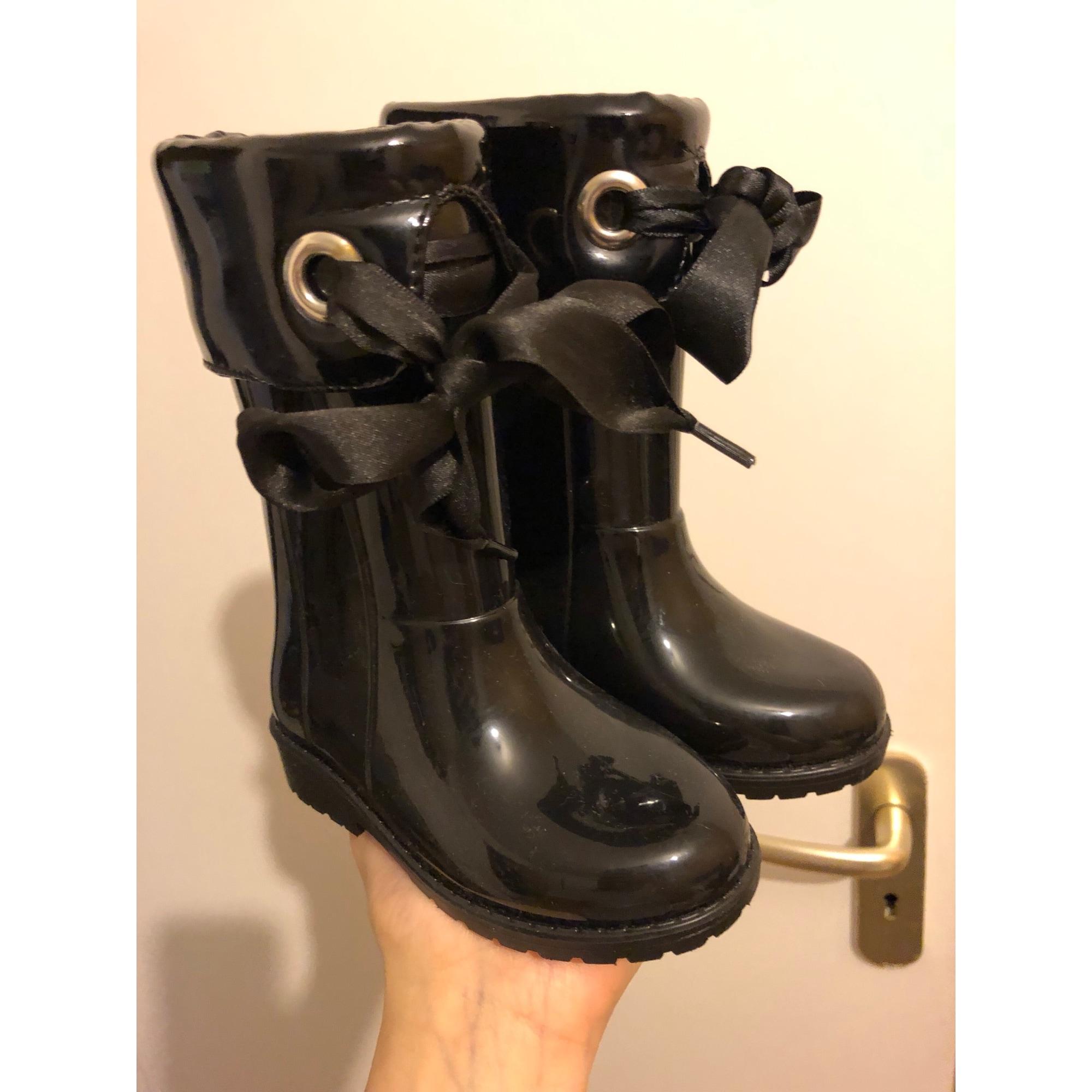 Bottes de pluie TTY caoutchouc noir 23