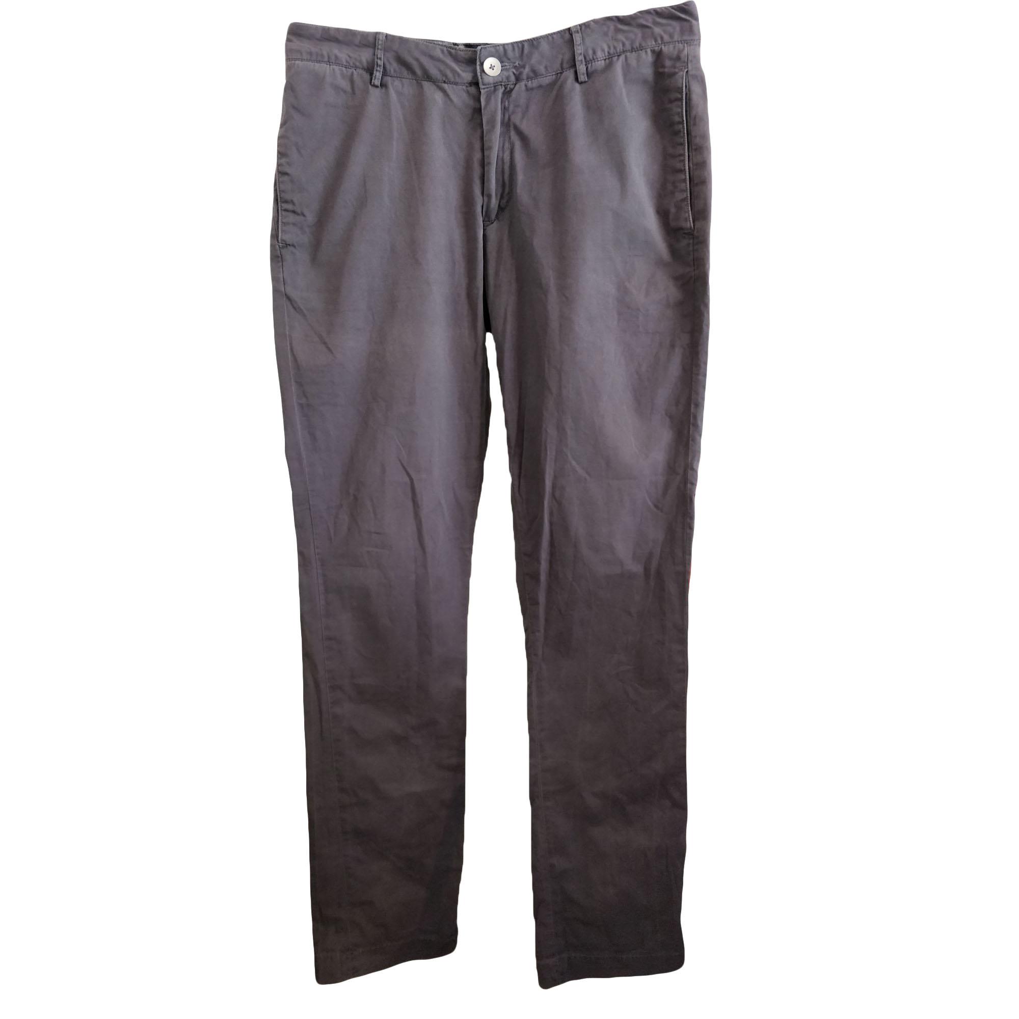 Pantalon droit ACNE Gris, anthracite