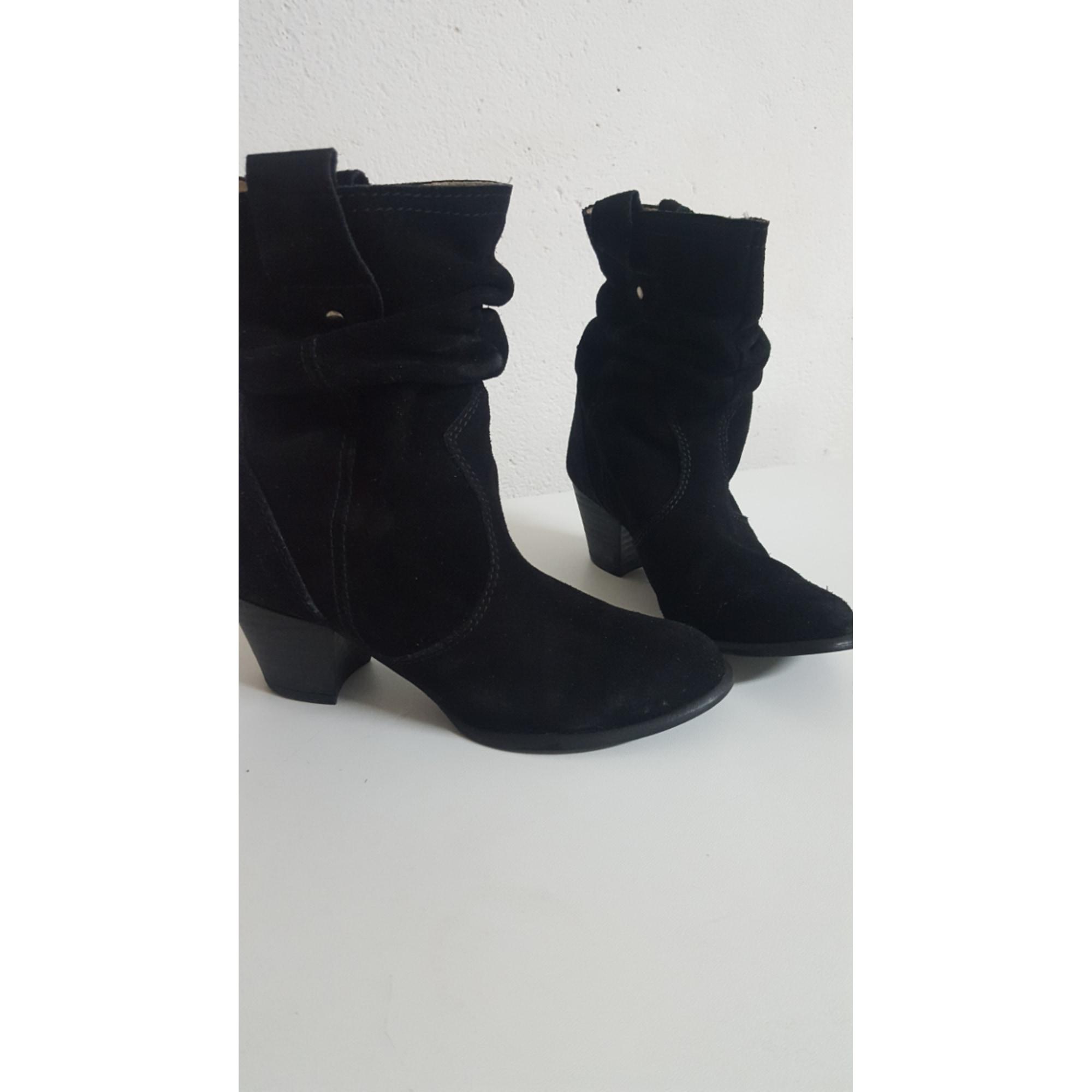 Santiags, bottines, low boots cowboy NAF NAF Noir