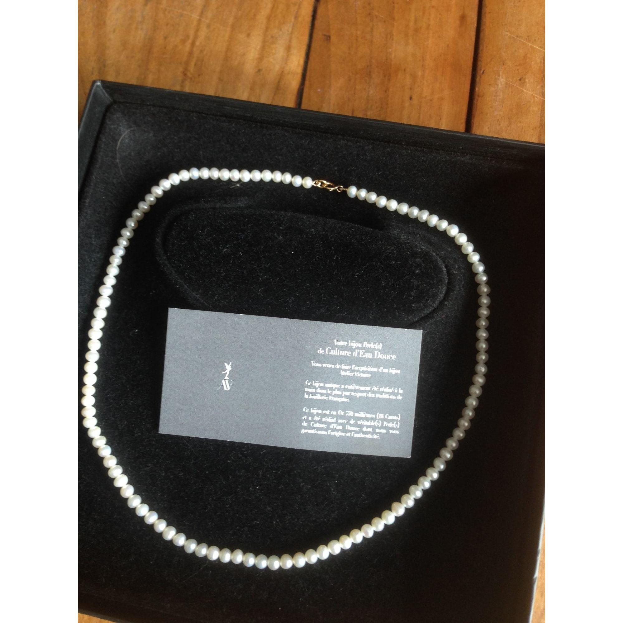 Collier ATELIER VICTOIRE perle blanc