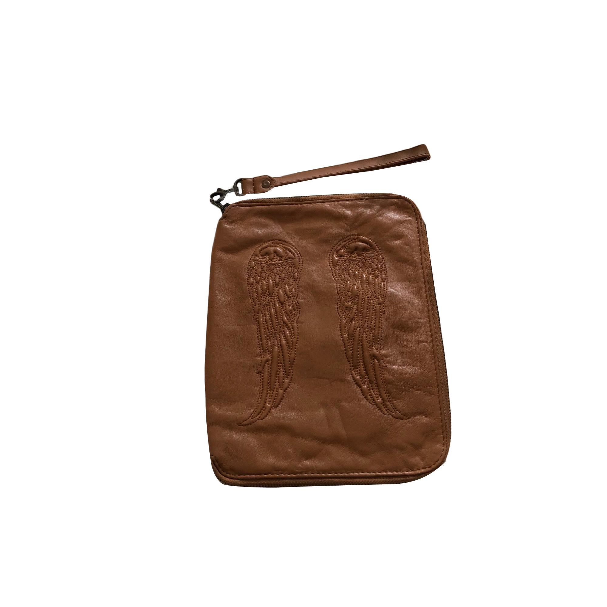 Porte documents, serviette BERENICE cuir beige