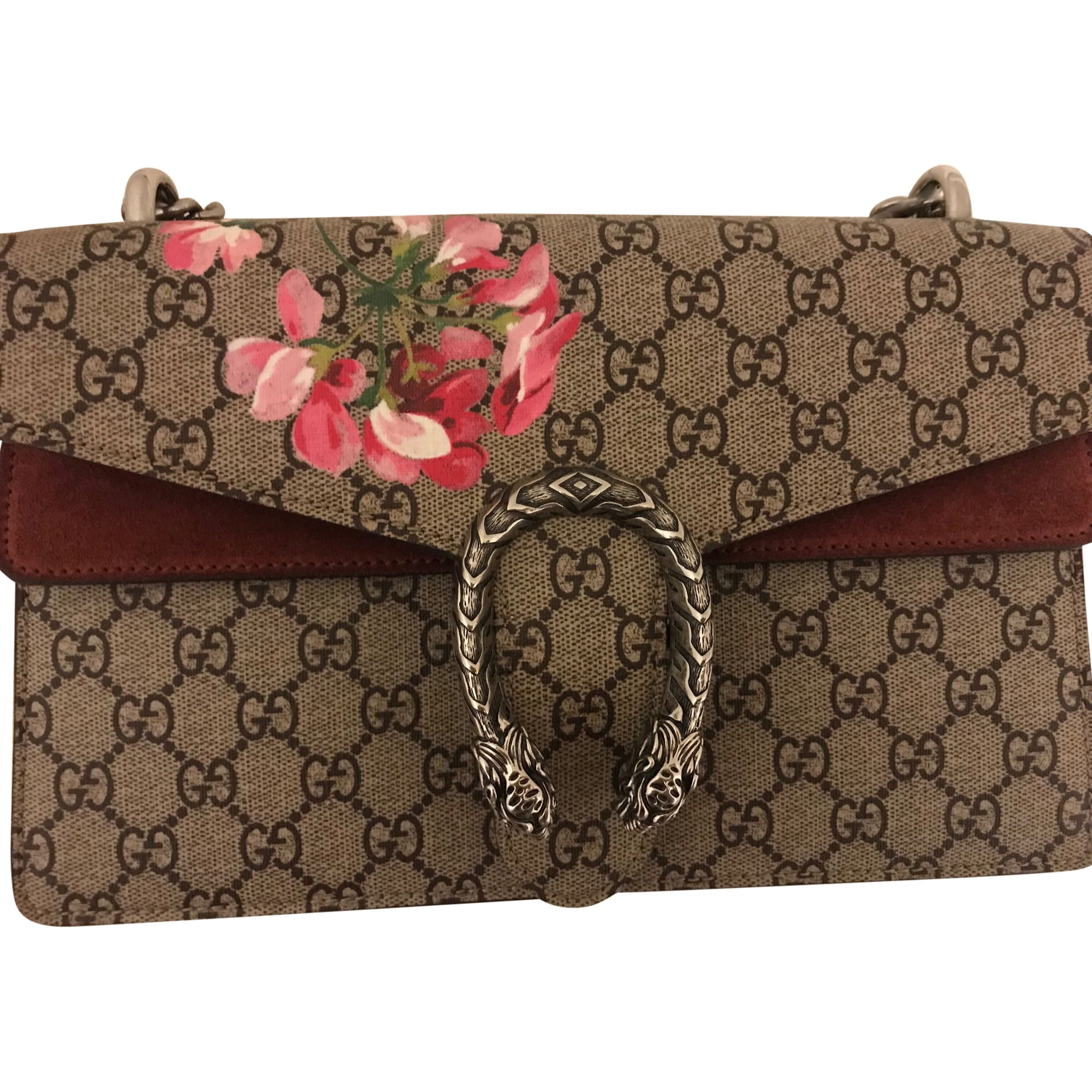 Non-Leather Handbag GUCCI Dionysus Pink, fuchsia, light pink