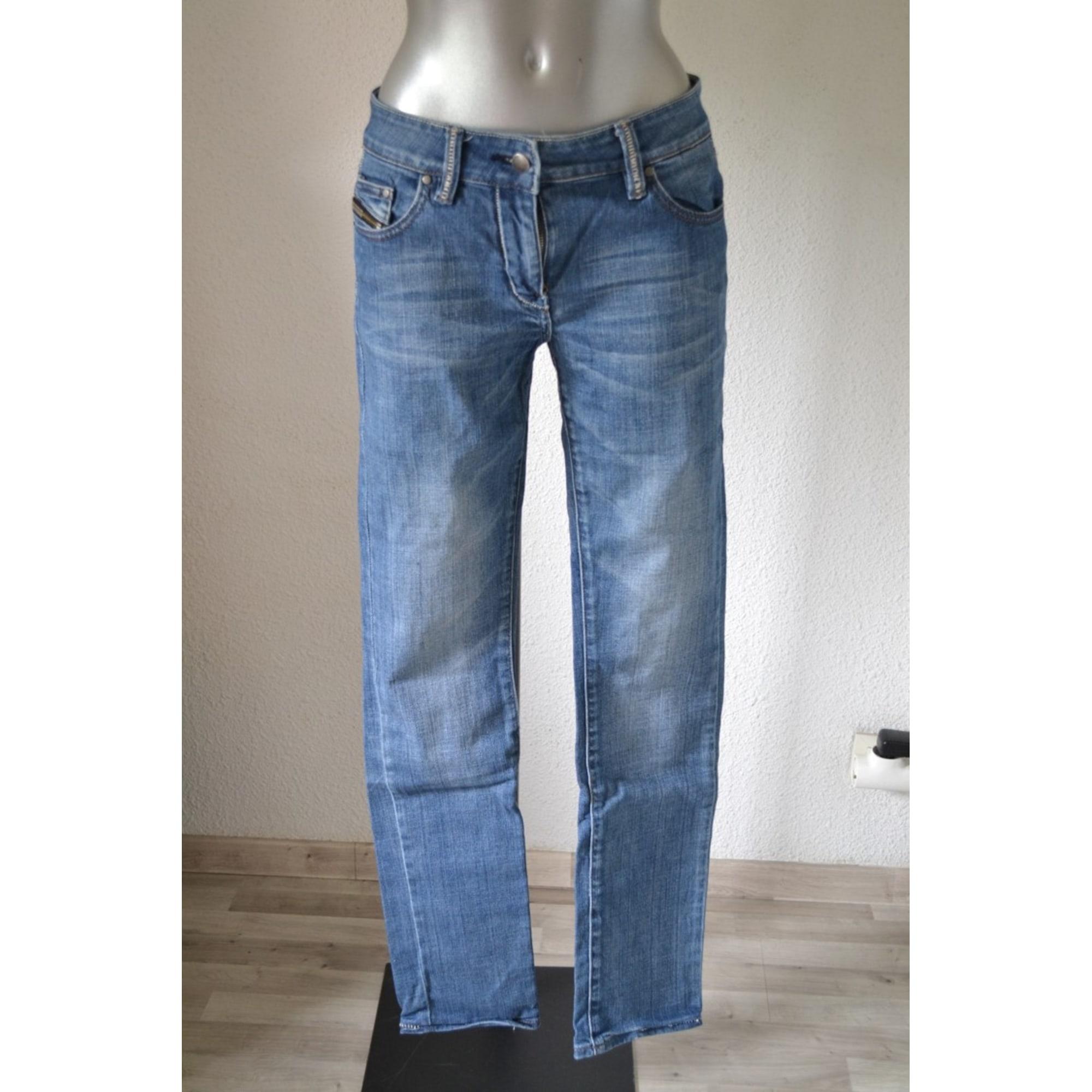 Jeans slim ETAM Bleu, bleu marine, bleu turquoise