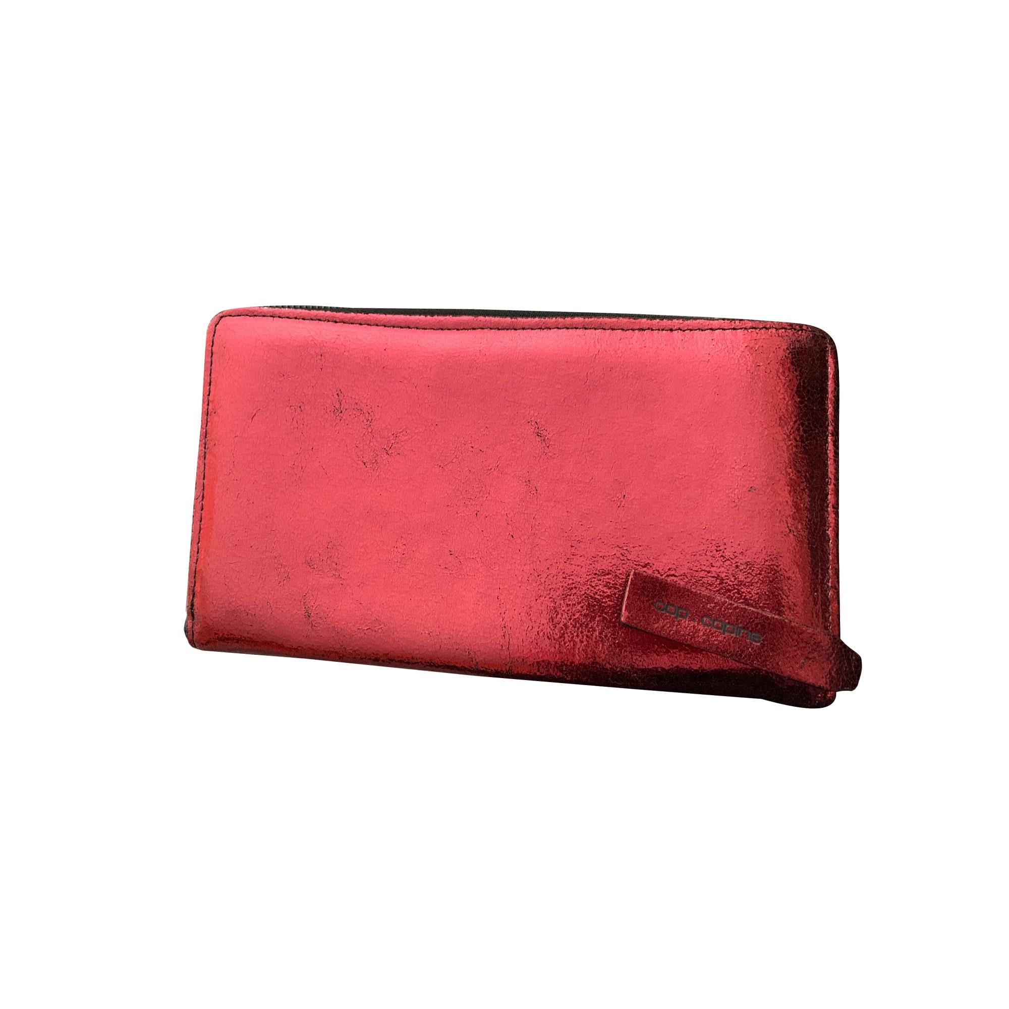 Portefeuille COP-COPINE cuir rouge
