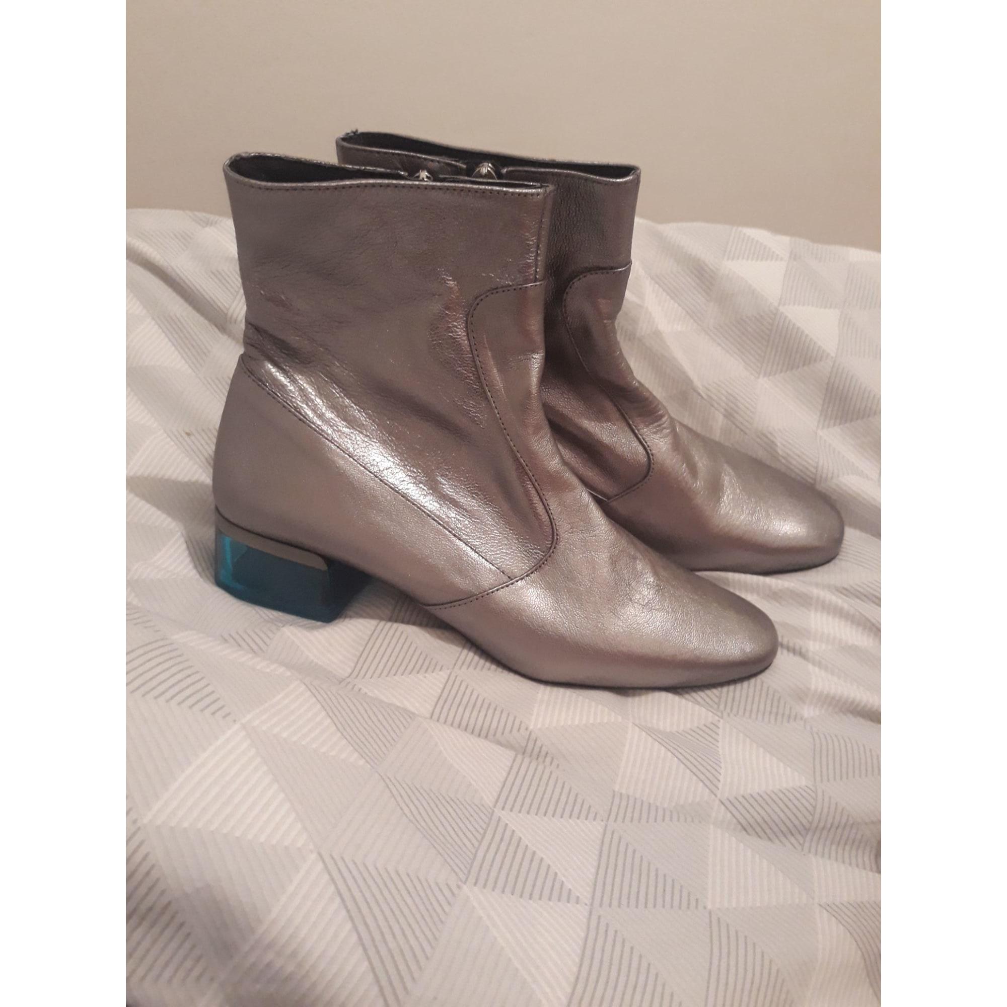 Bottines & low boots à talons TOPSHOP Argenté, acier