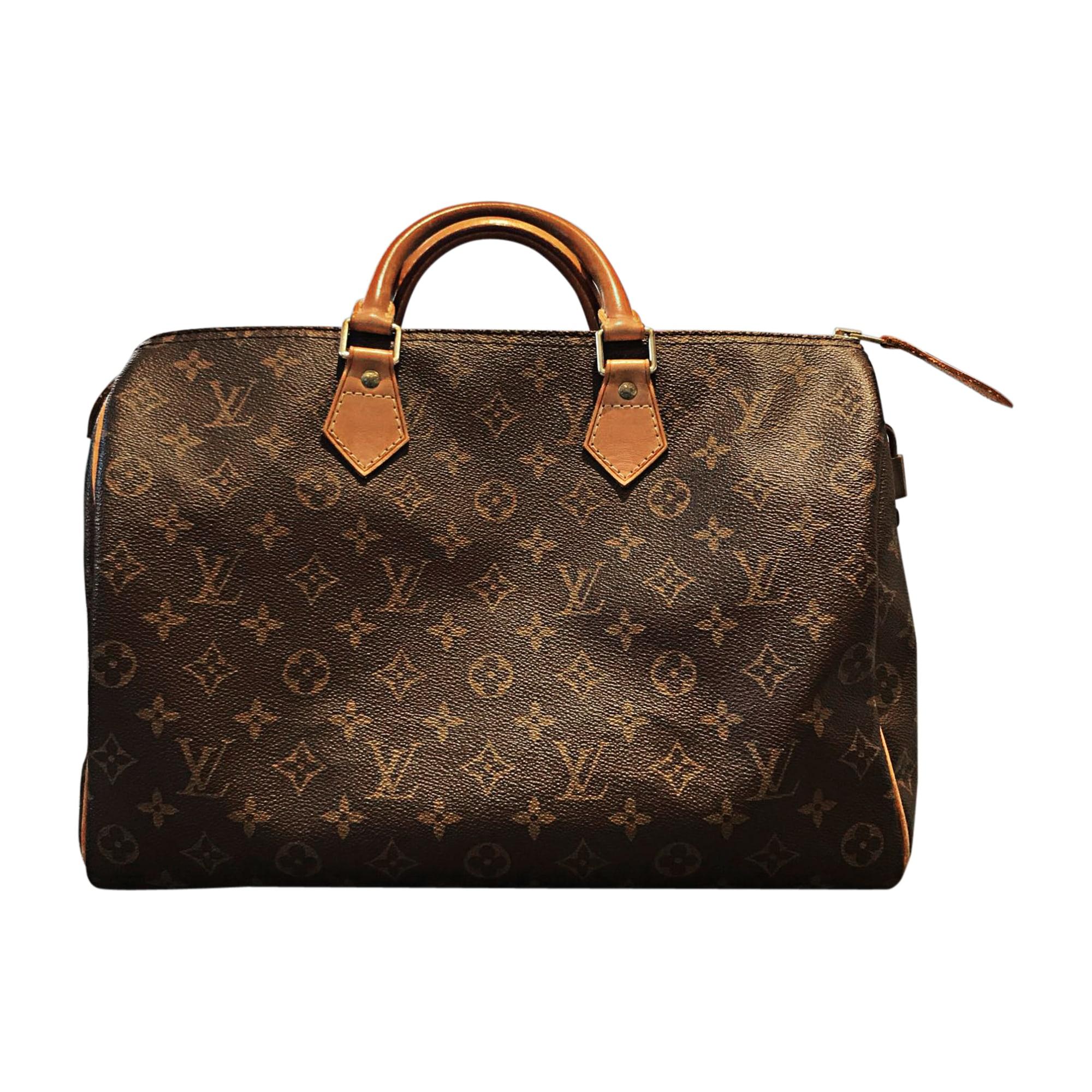 Leather Handbag LOUIS VUITTON Speedy Beige, camel