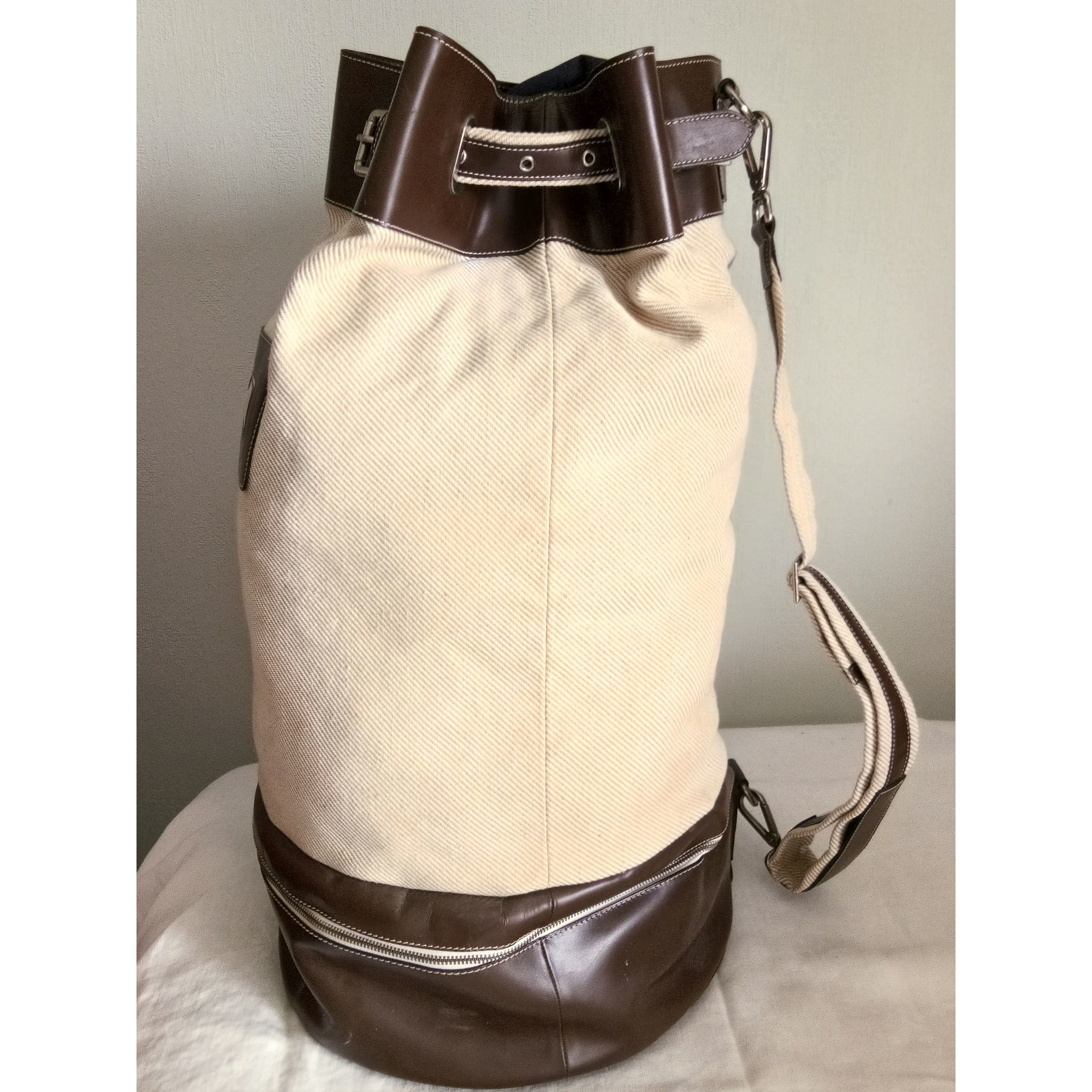 Leather Oversize Bag CORNELIANI Beige, camel