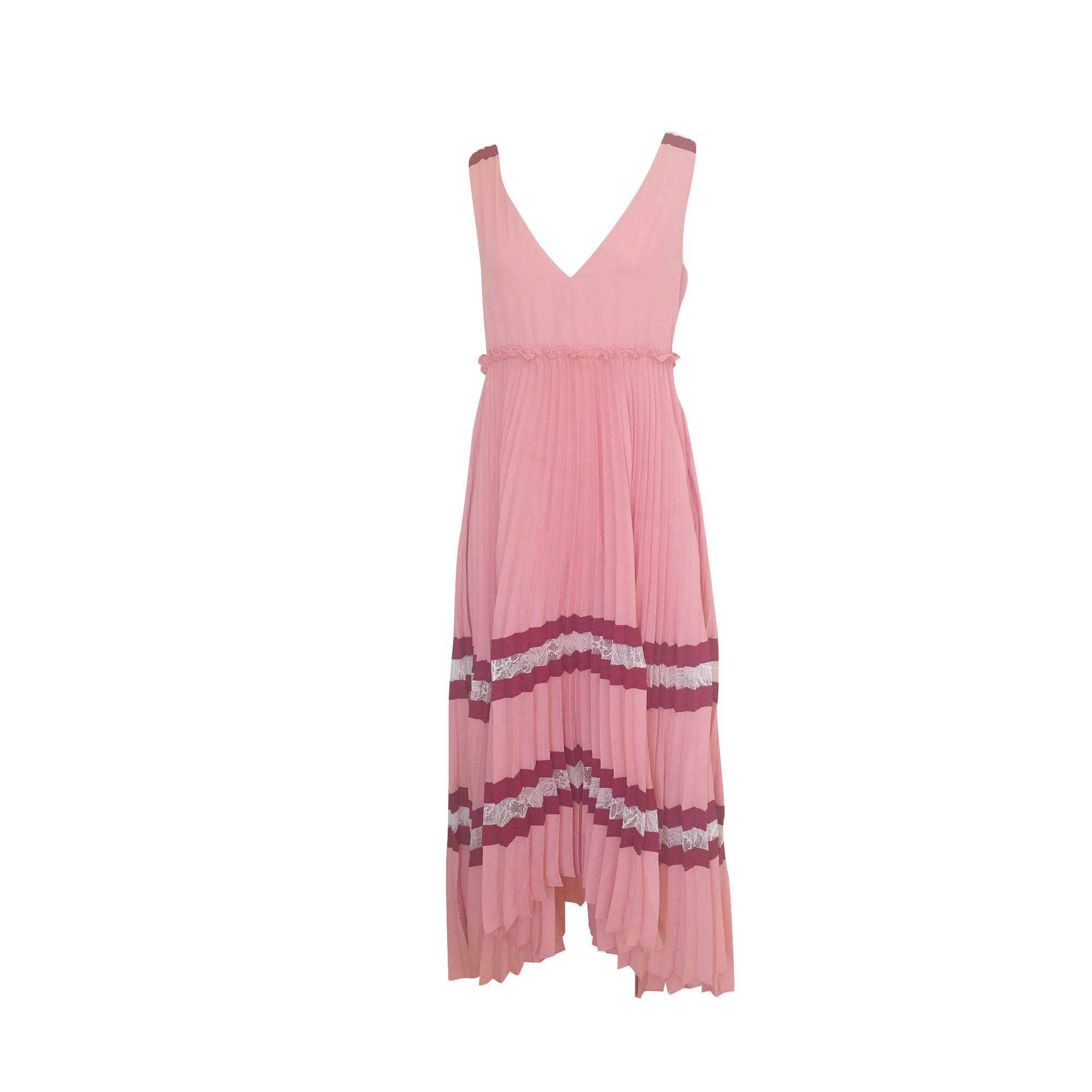 Maxi Dress MAJE Pink, fuchsia, light pink