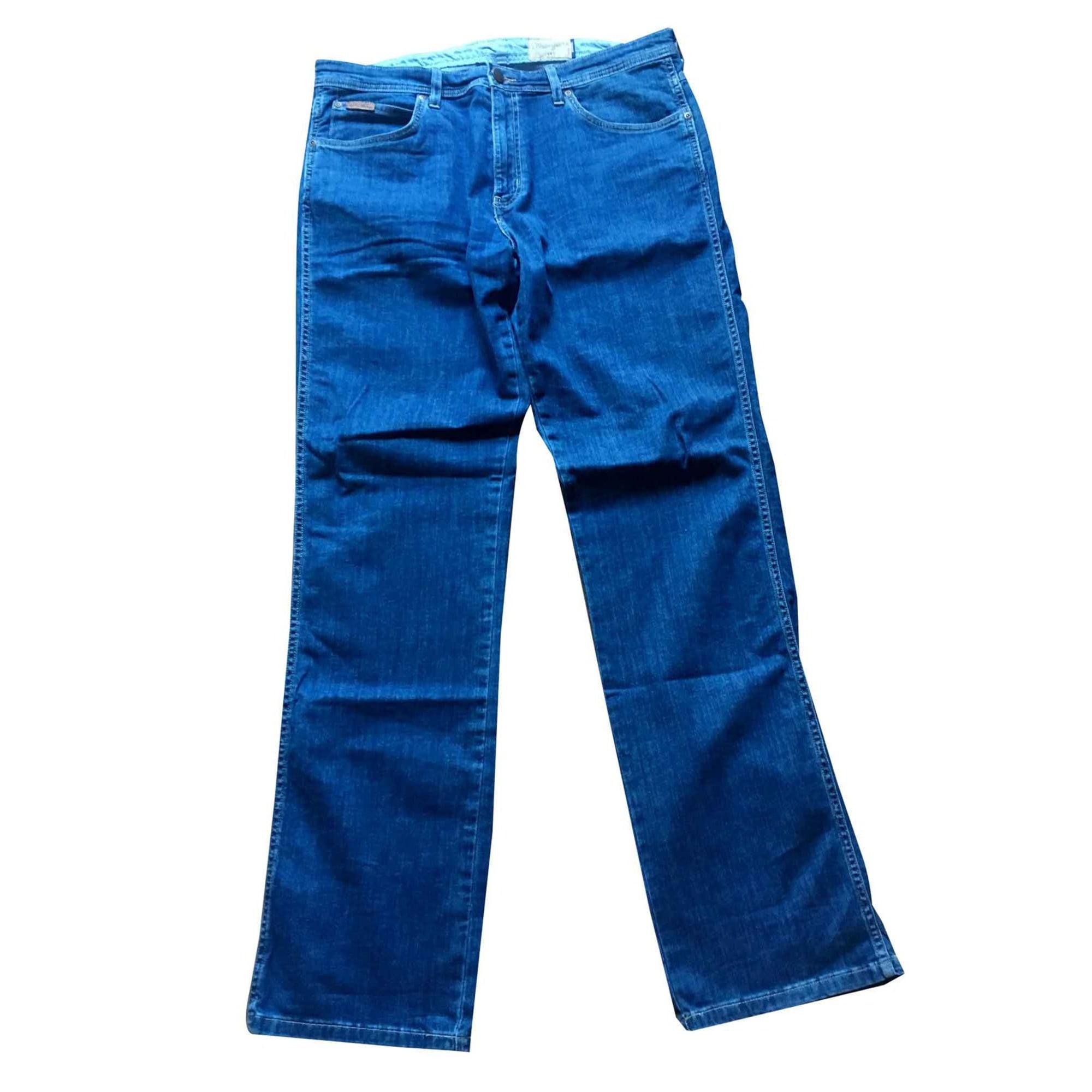 Jeans droit WRANGLER Bleu, bleu marine, bleu turquoise