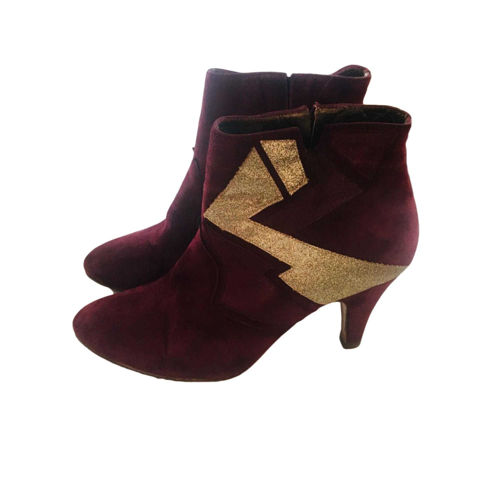 High Heel Ankle Boots PATRICIA BLANCHET Red, burgundy