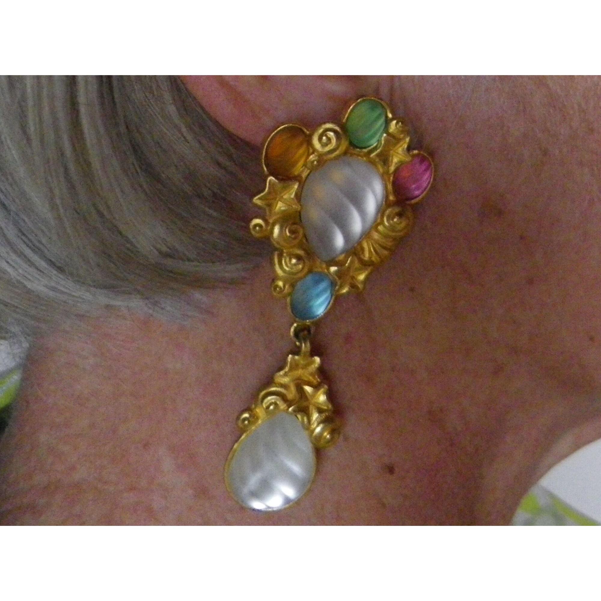 Boucles d'oreille EMANUEL UNGARO métal doré