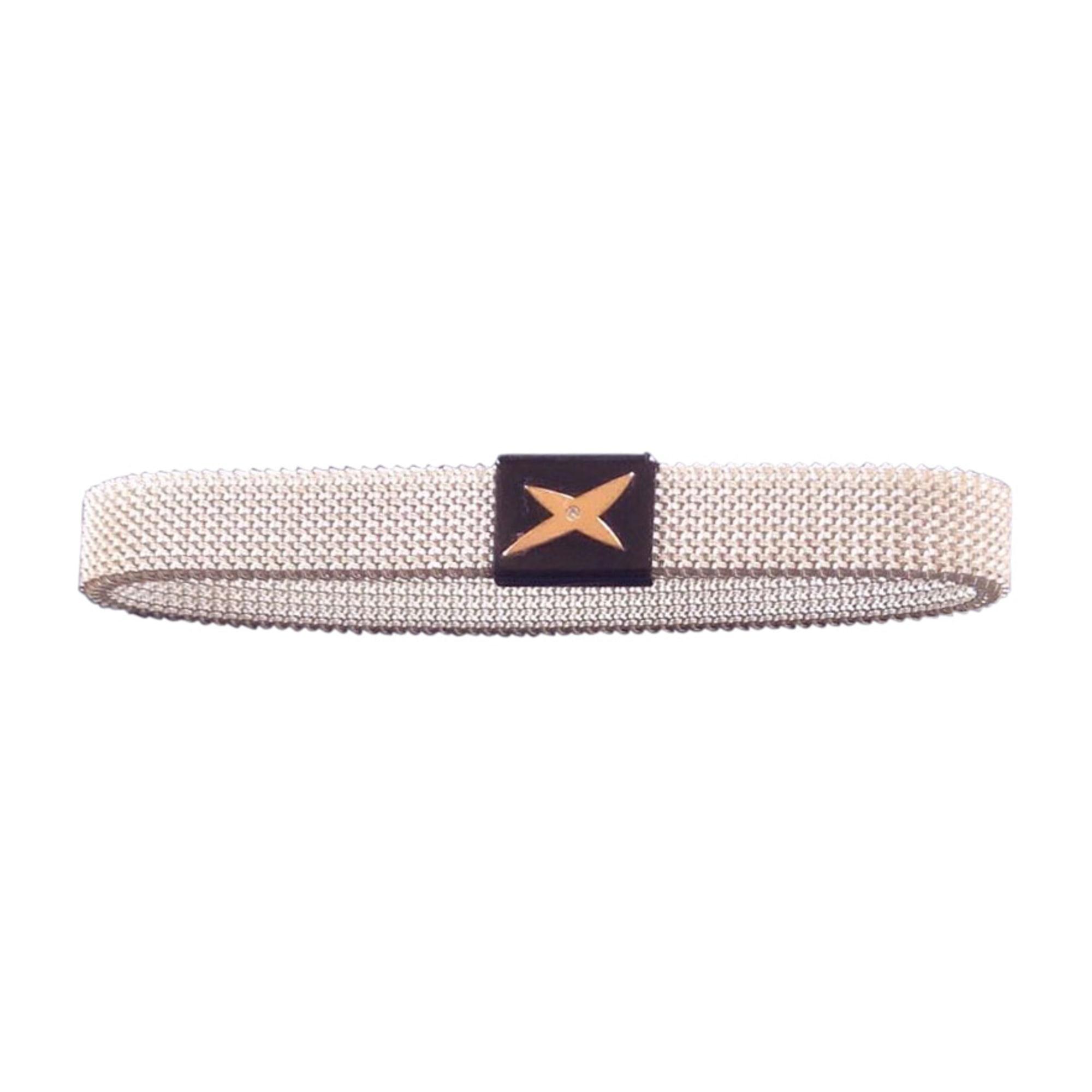 Bracelet MAUBOUSSIN Noir acier blc or