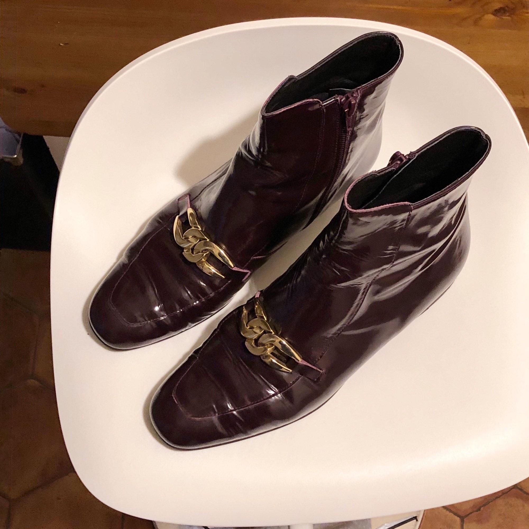 Bottines & low boots plates ASOS Violet et doré
