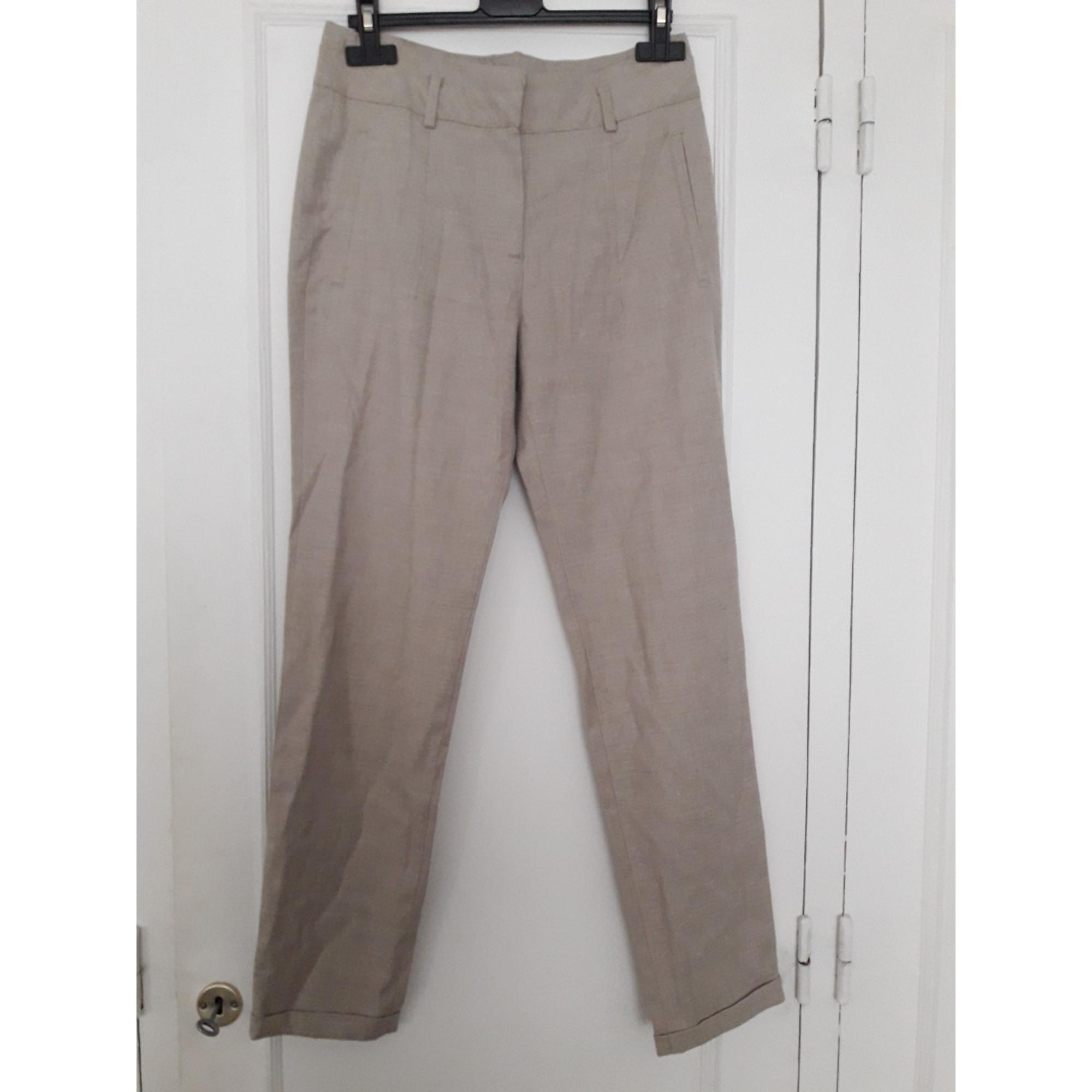 Pantalon carotte ZARA Beige, camel