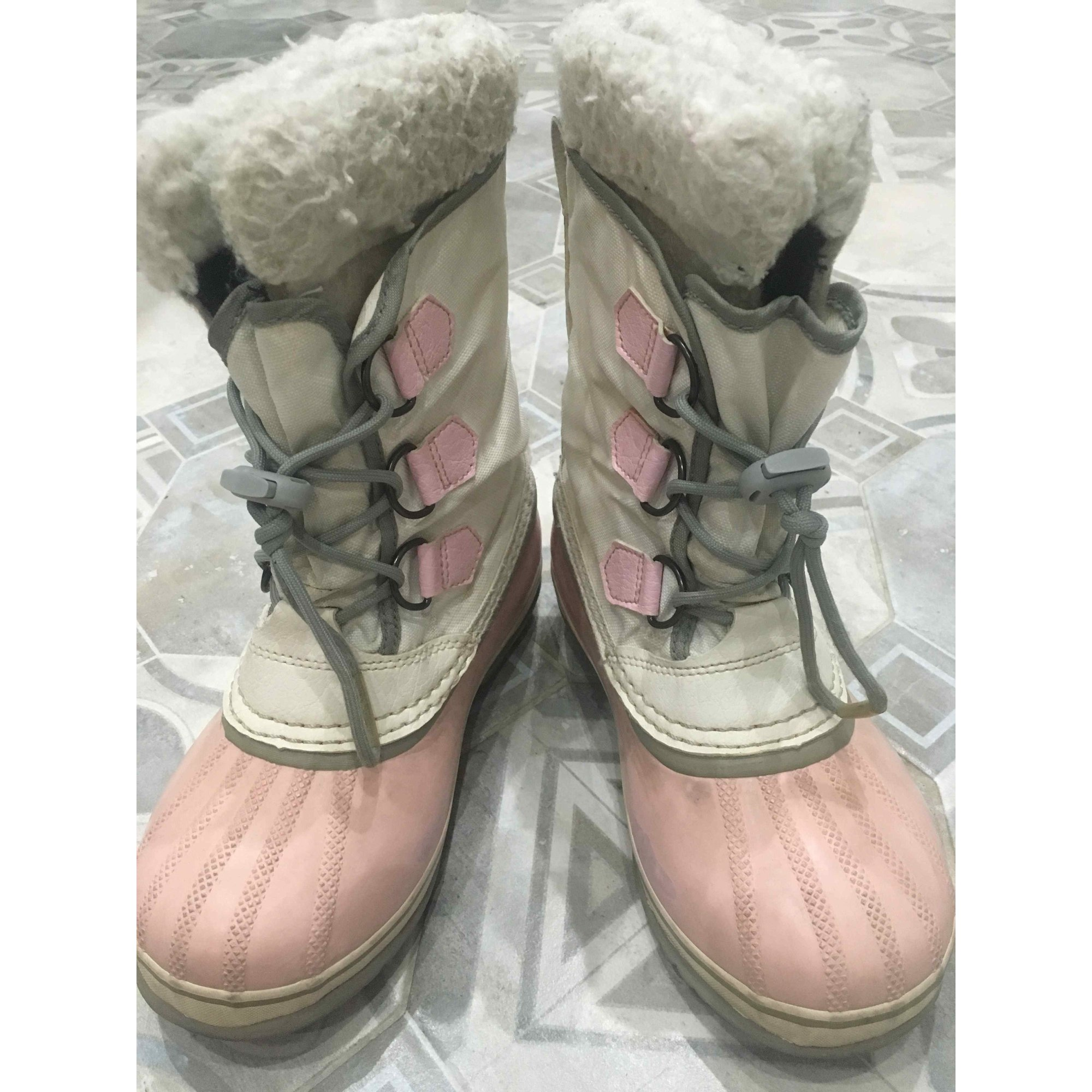 Bottes de neige SOREL simili cuir rose 34