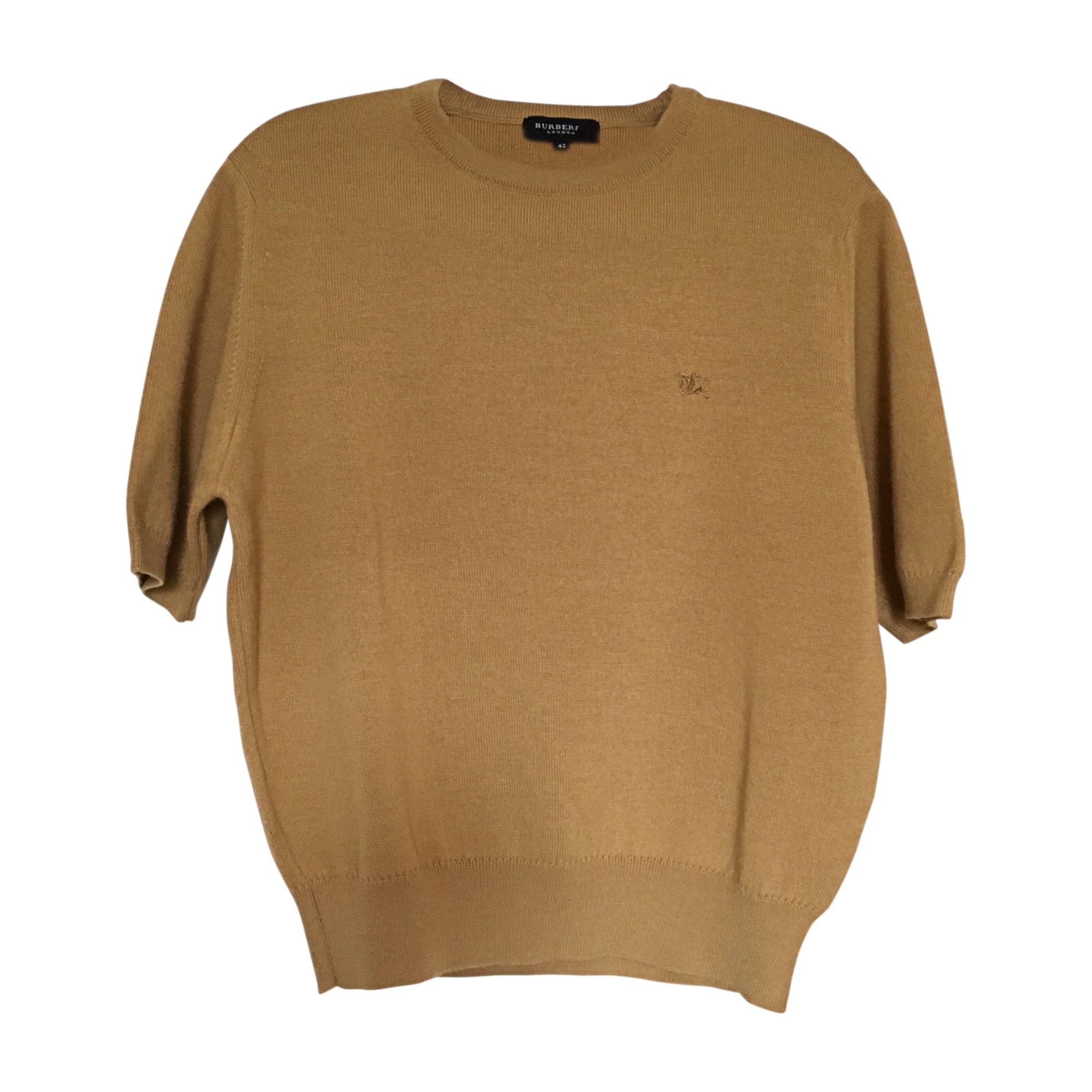 Top, tee-shirt BURBERRY Camel