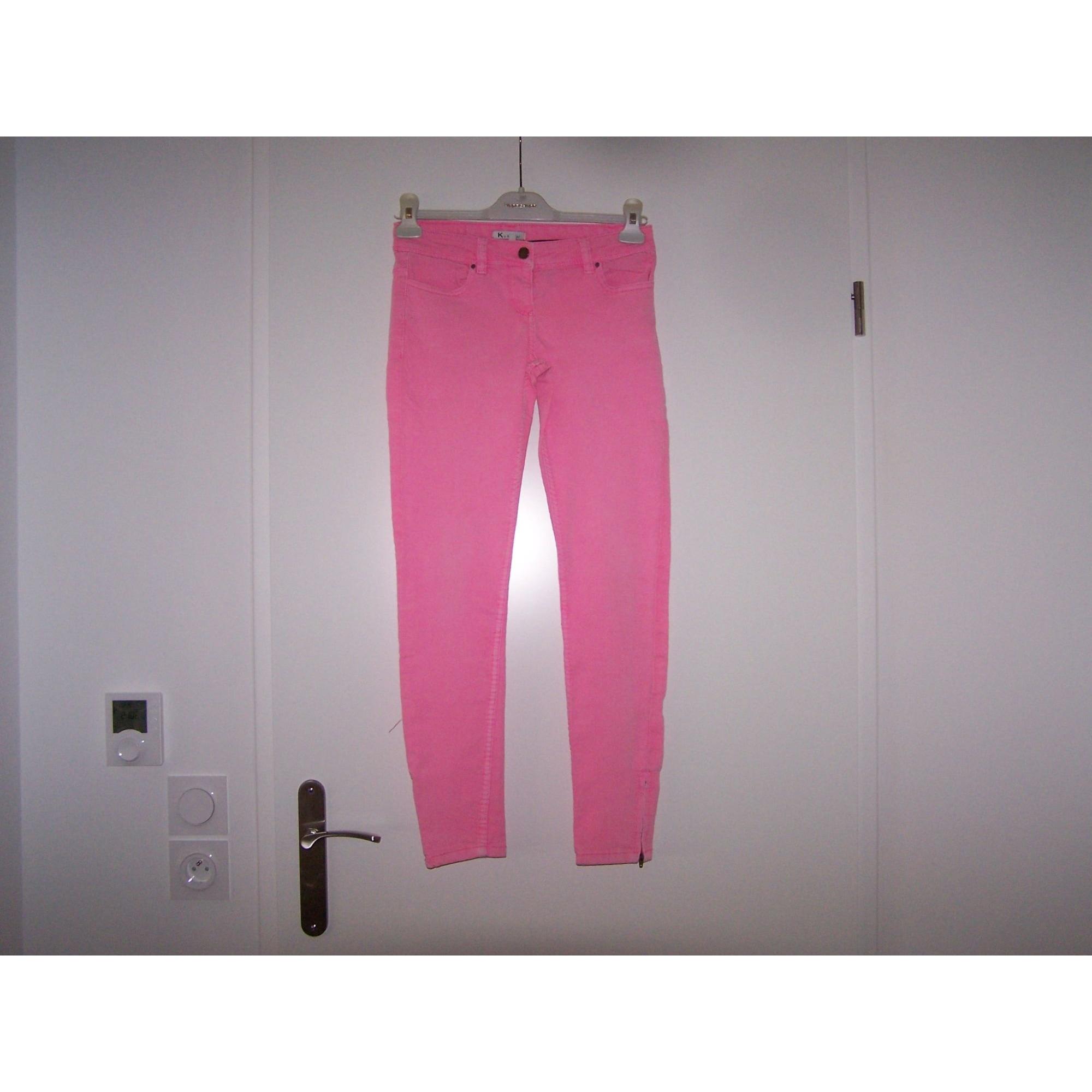 Jeans slim KOOKAI Rose, fuschia, vieux rose