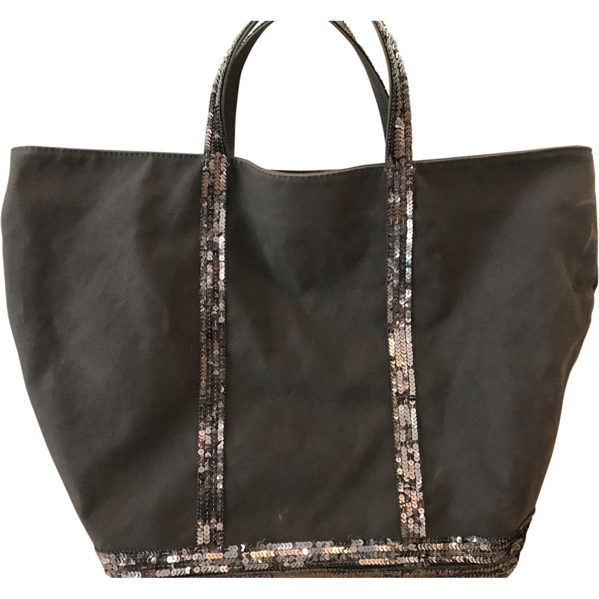 Non-Leather Handbag VANESSA BRUNO Gray, charcoal