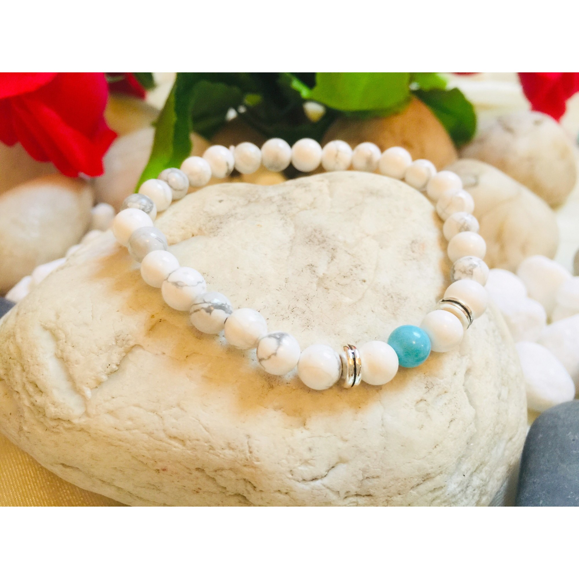 Bracelet ART&CREATIONS perle blanc