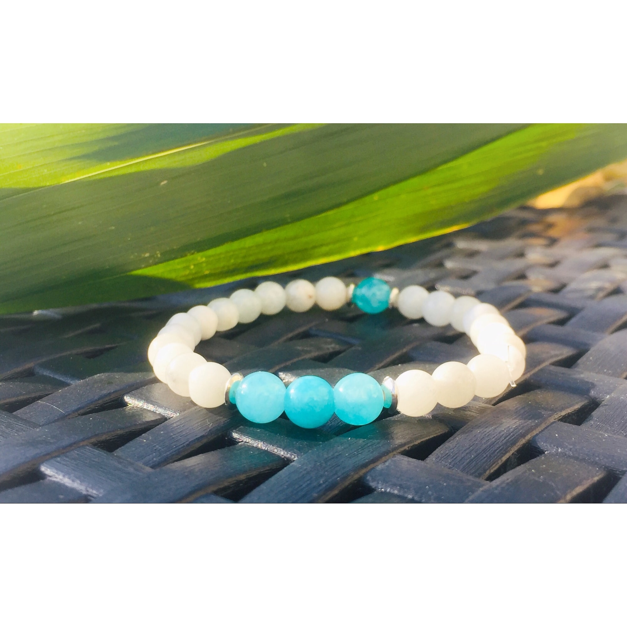 Bracelet ART& CREATIONS perle blanc