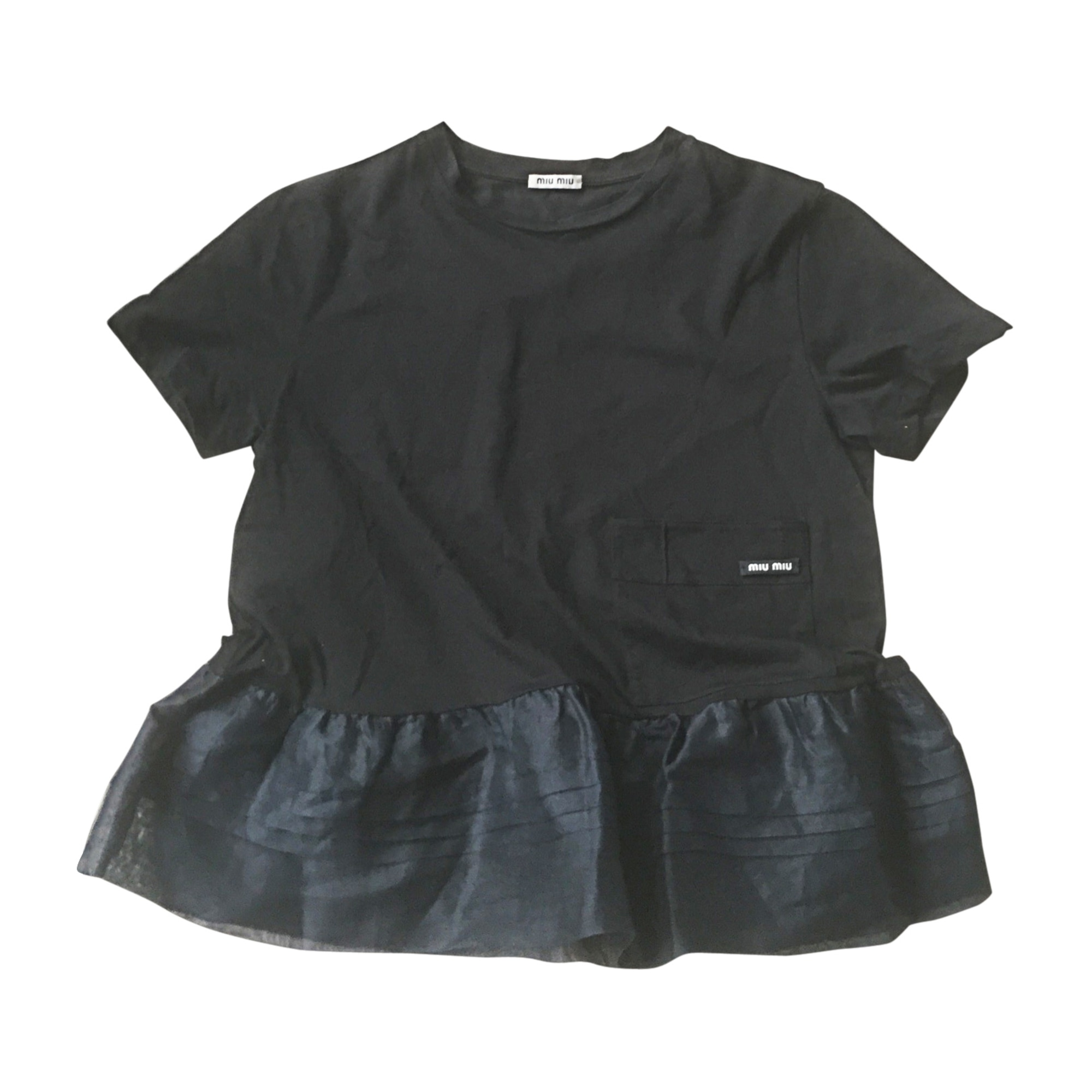 Top, T-shirt MIU MIU Black