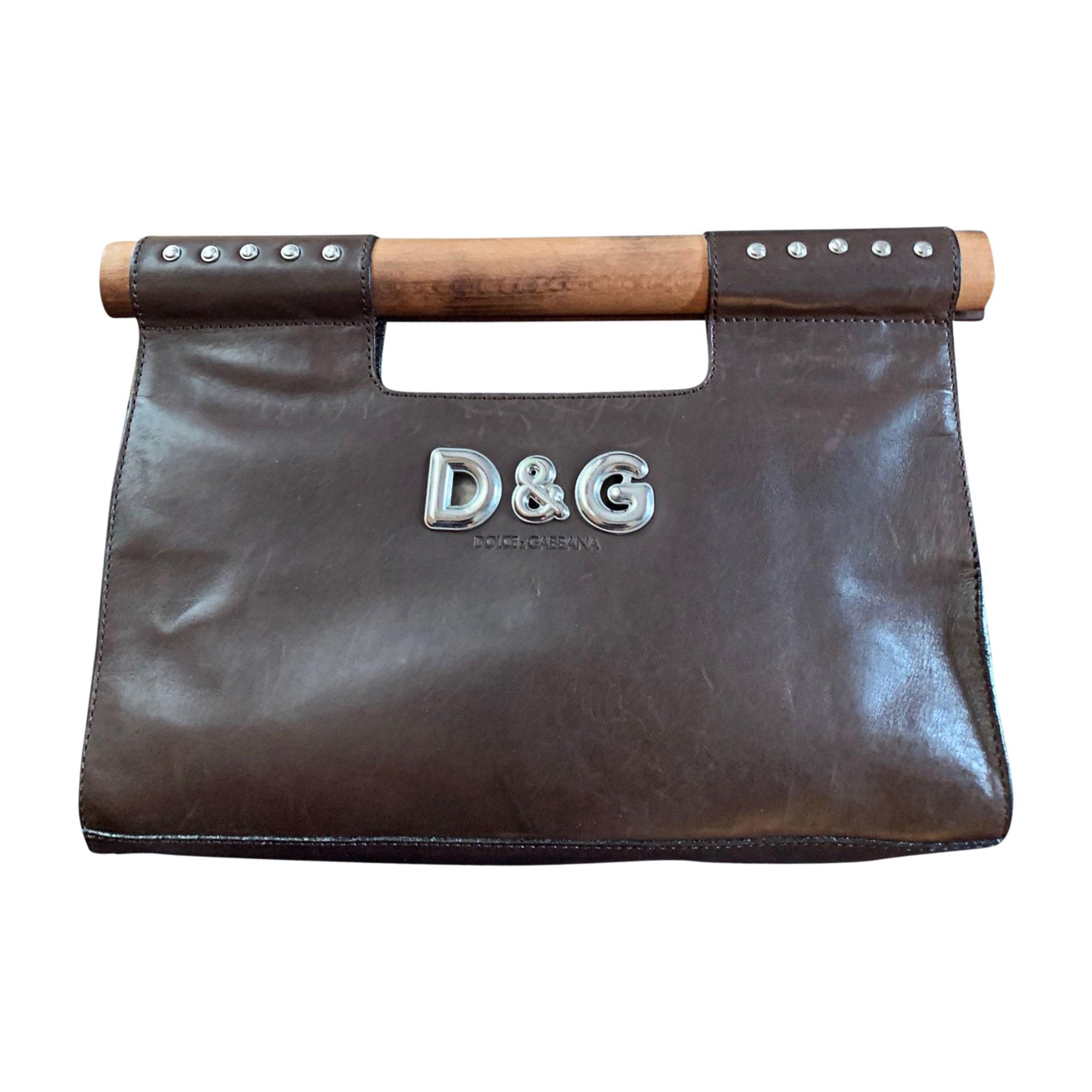 Sac à main en cuir D&G cuir marron
