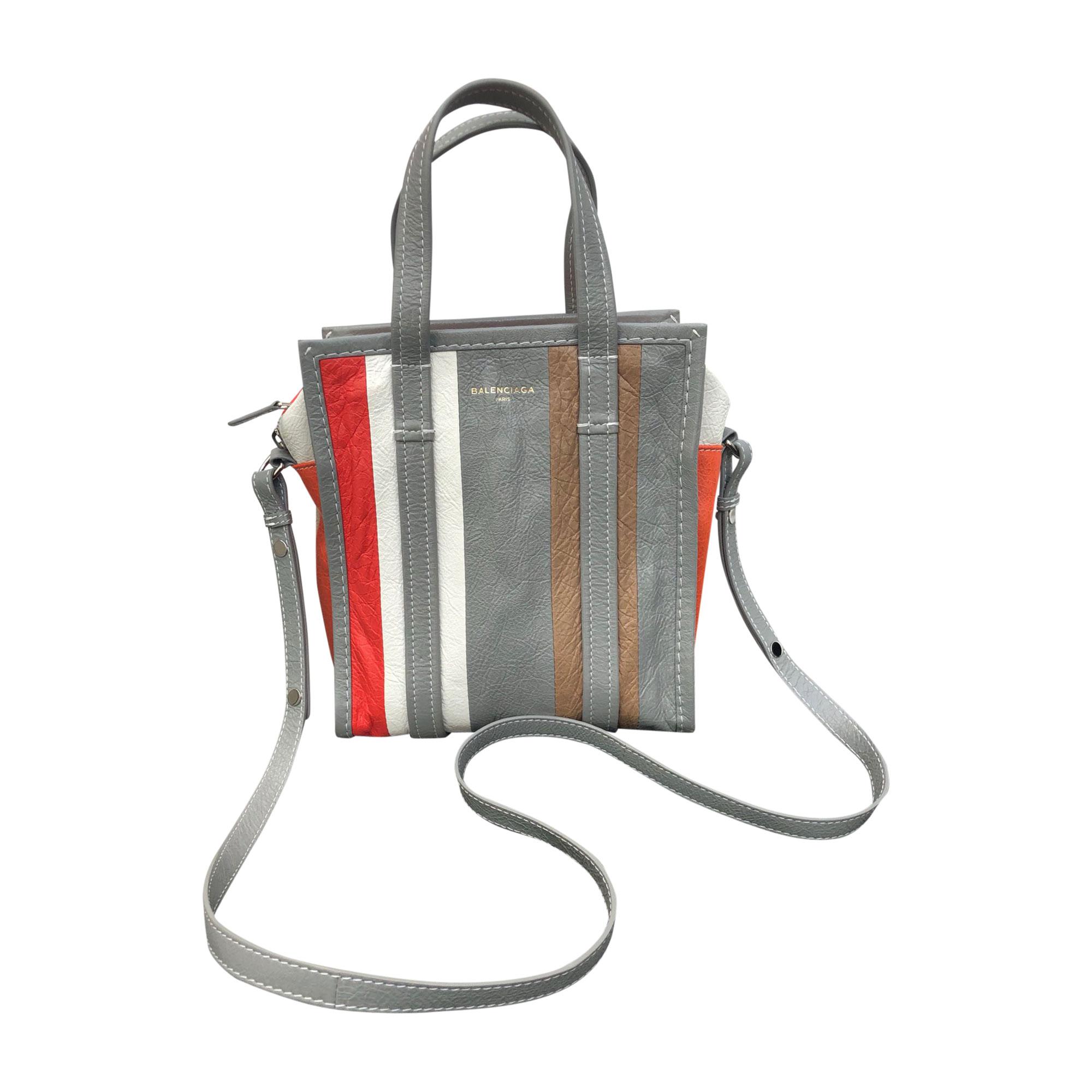 Leather Shoulder Bag BALENCIAGA Gray, charcoal