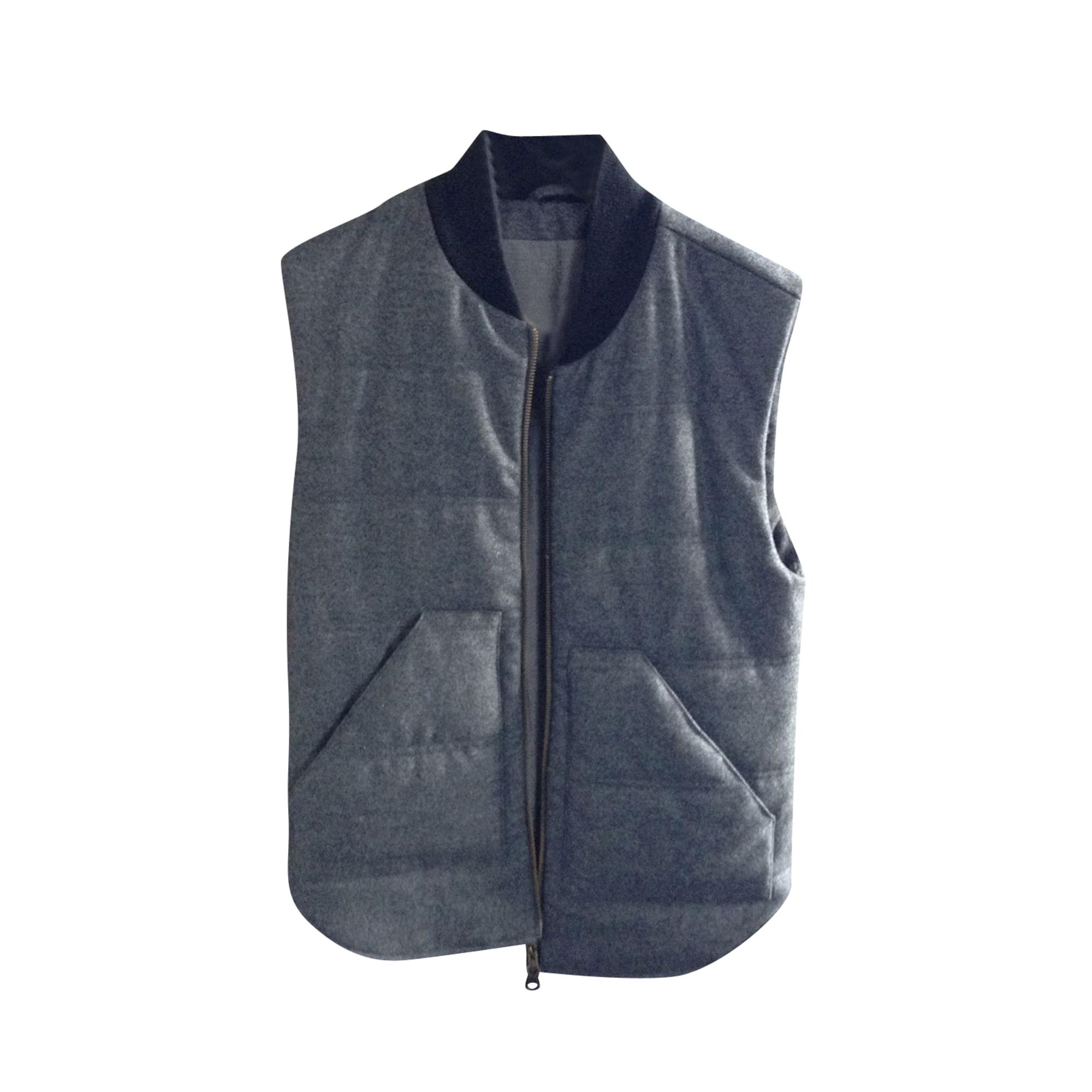Vest, Cardigan DRAPEAU NOIR Gray, charcoal