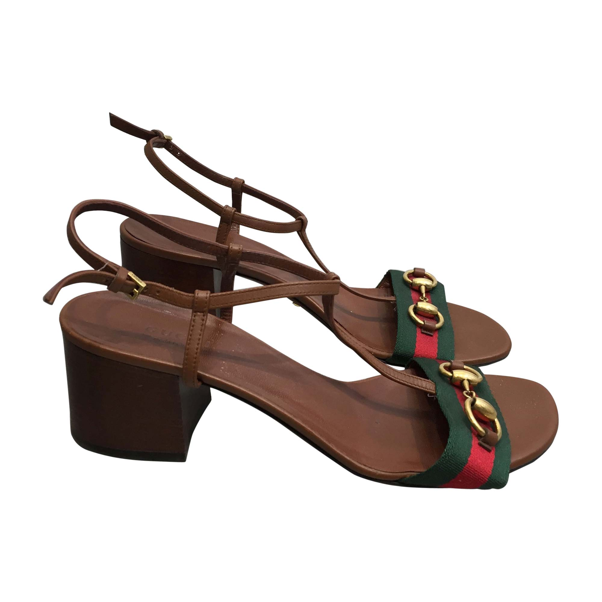Heeled Sandals GUCCI Brown