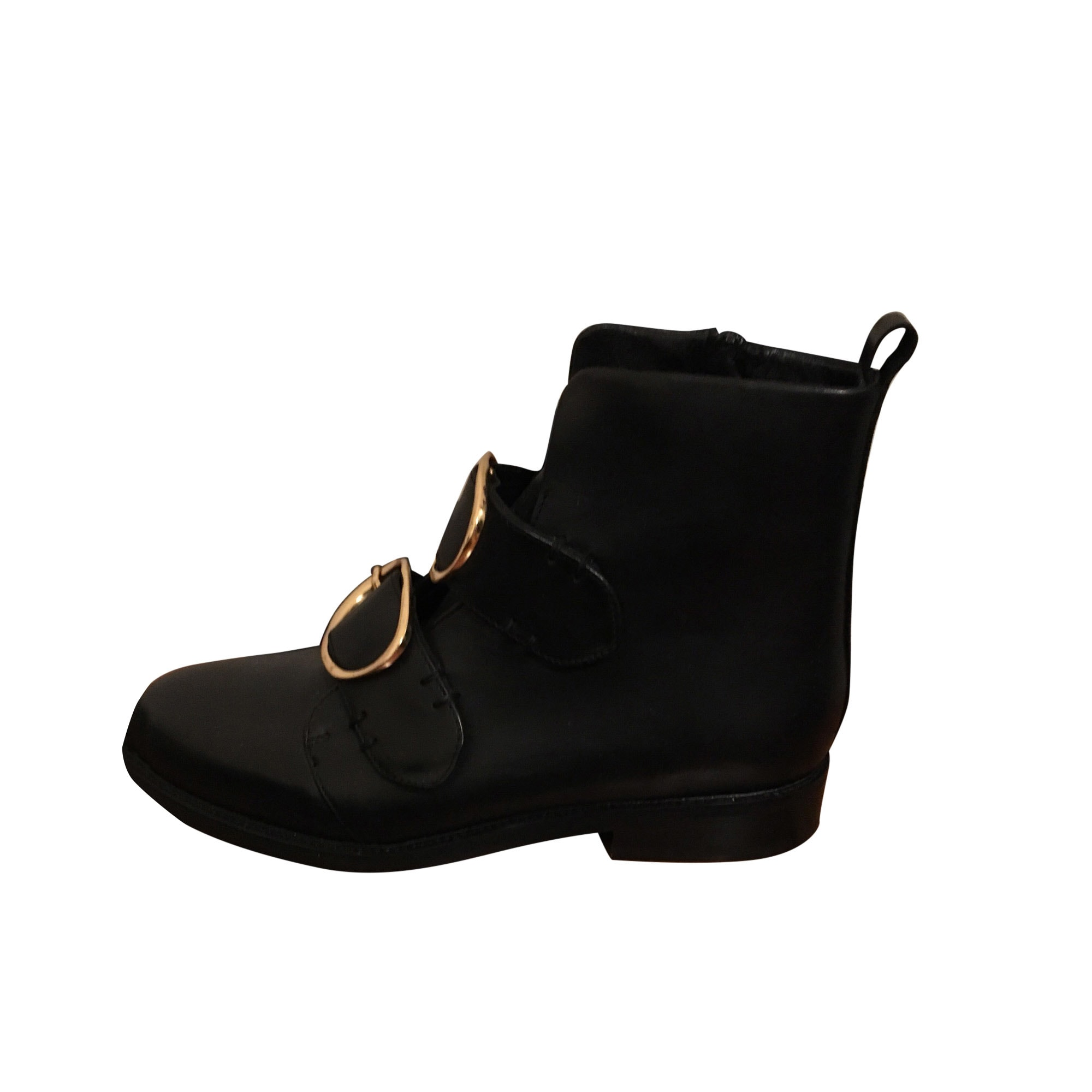 Flat Ankle Boots MAJE Black