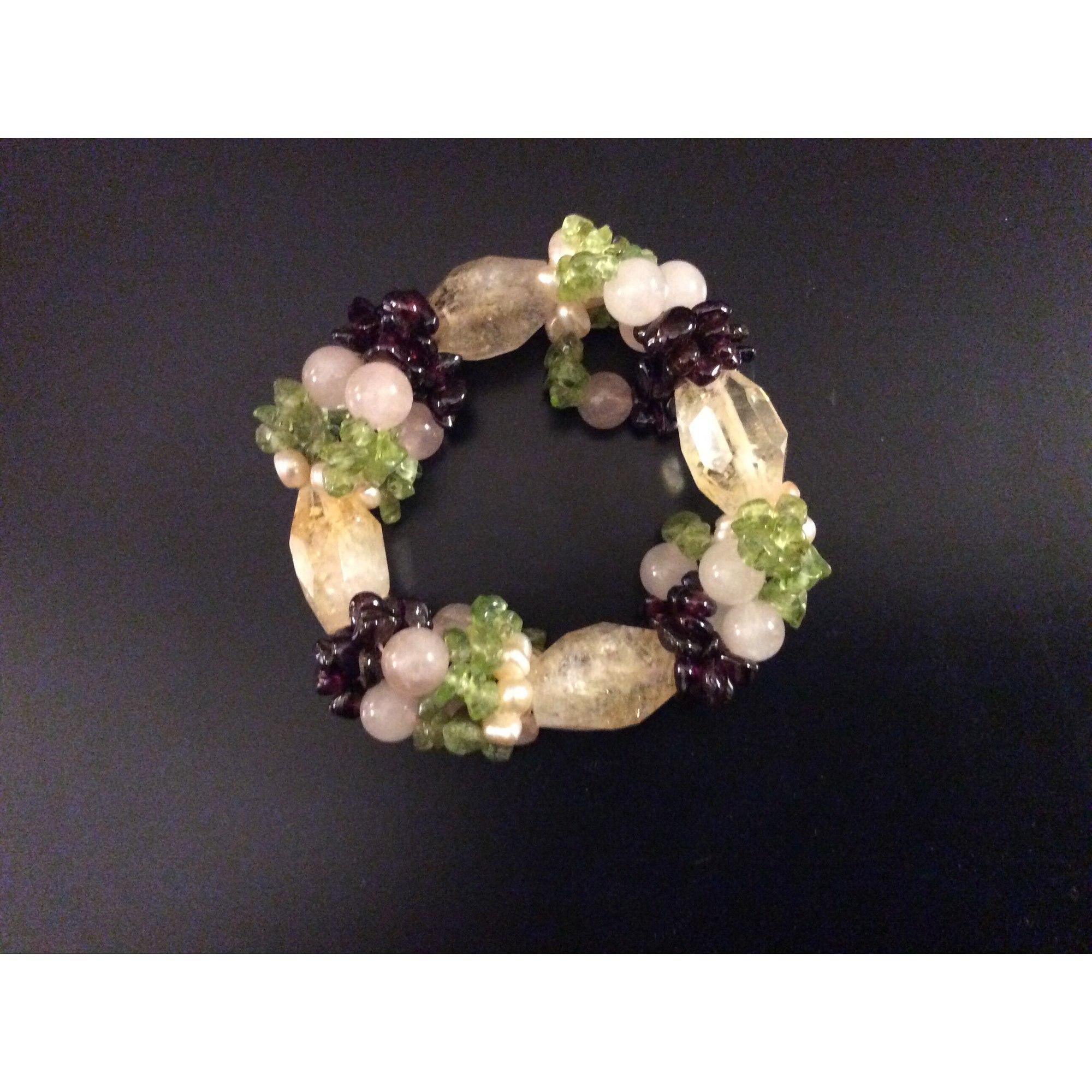Bracelet PHILIPPE FERRANDIS pierres multicolore