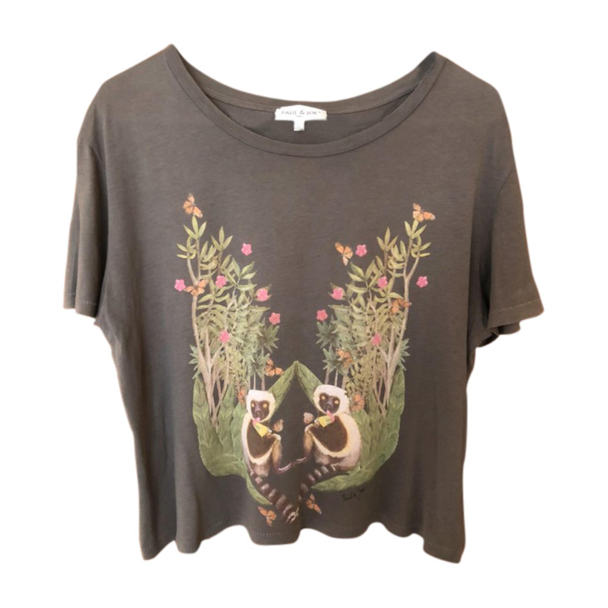 Top, tee-shirt PAUL & JOE Kaki