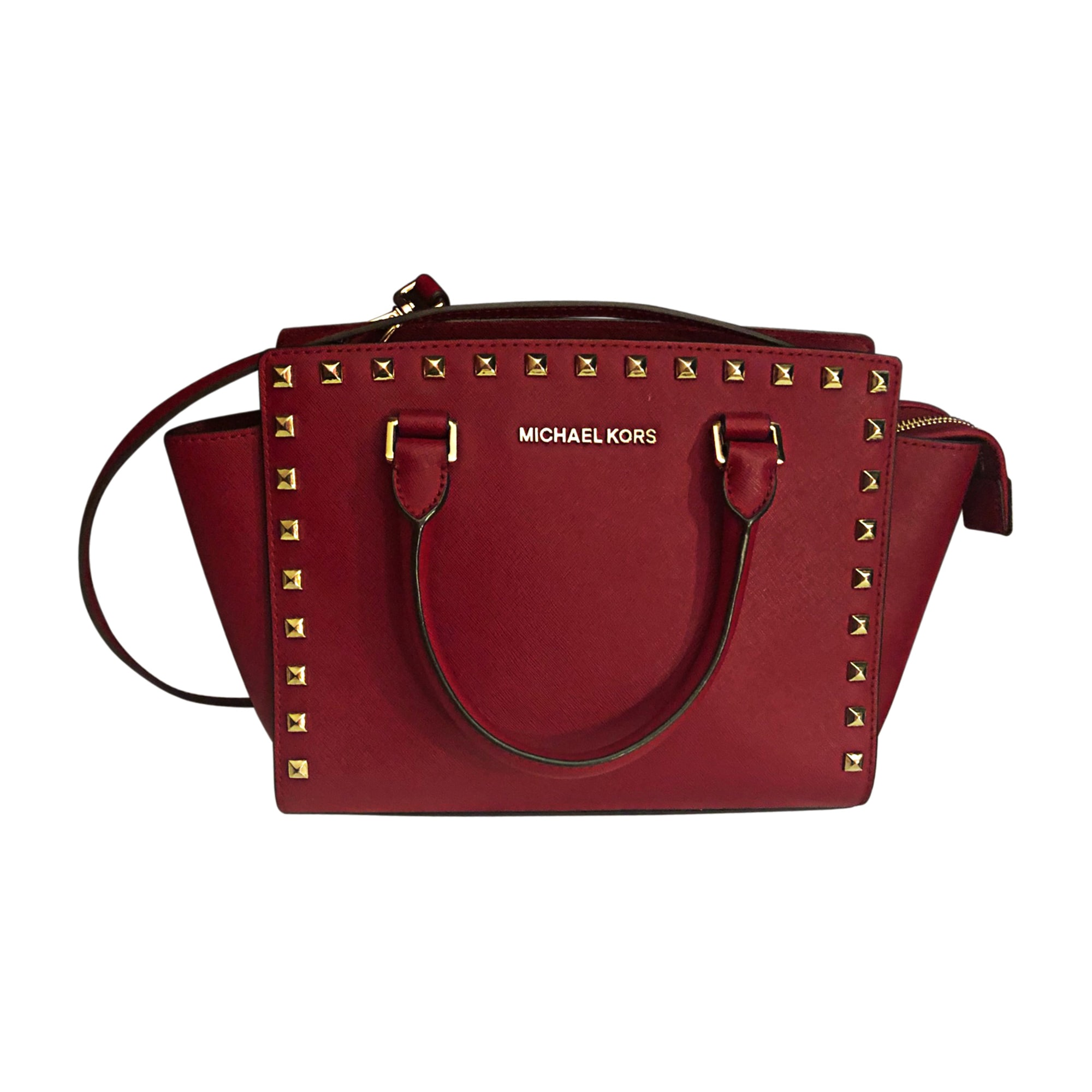 Sac à main en cuir MICHAEL KORS Rouge, bordeaux