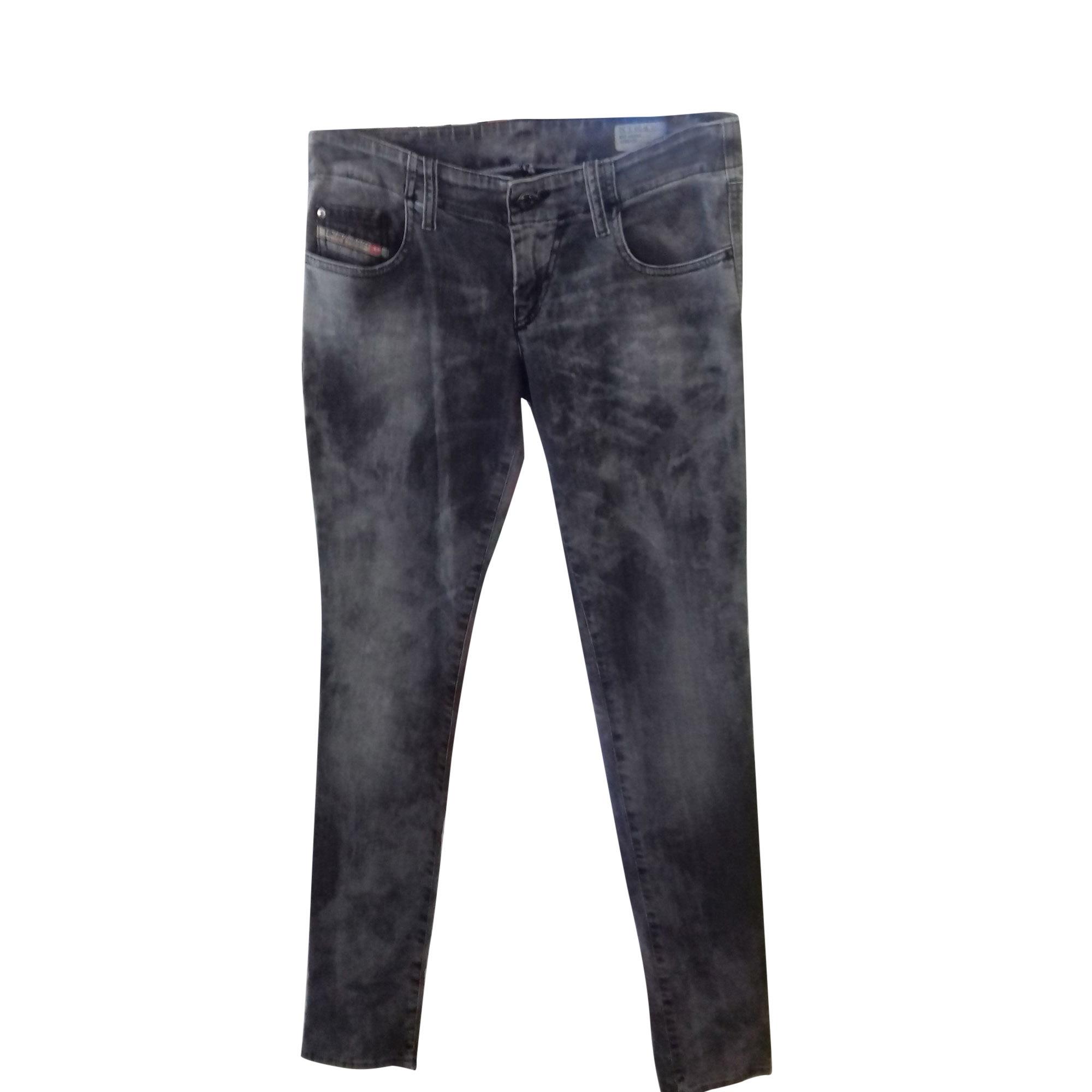 Jeans slim DIESEL Gris, anthracite