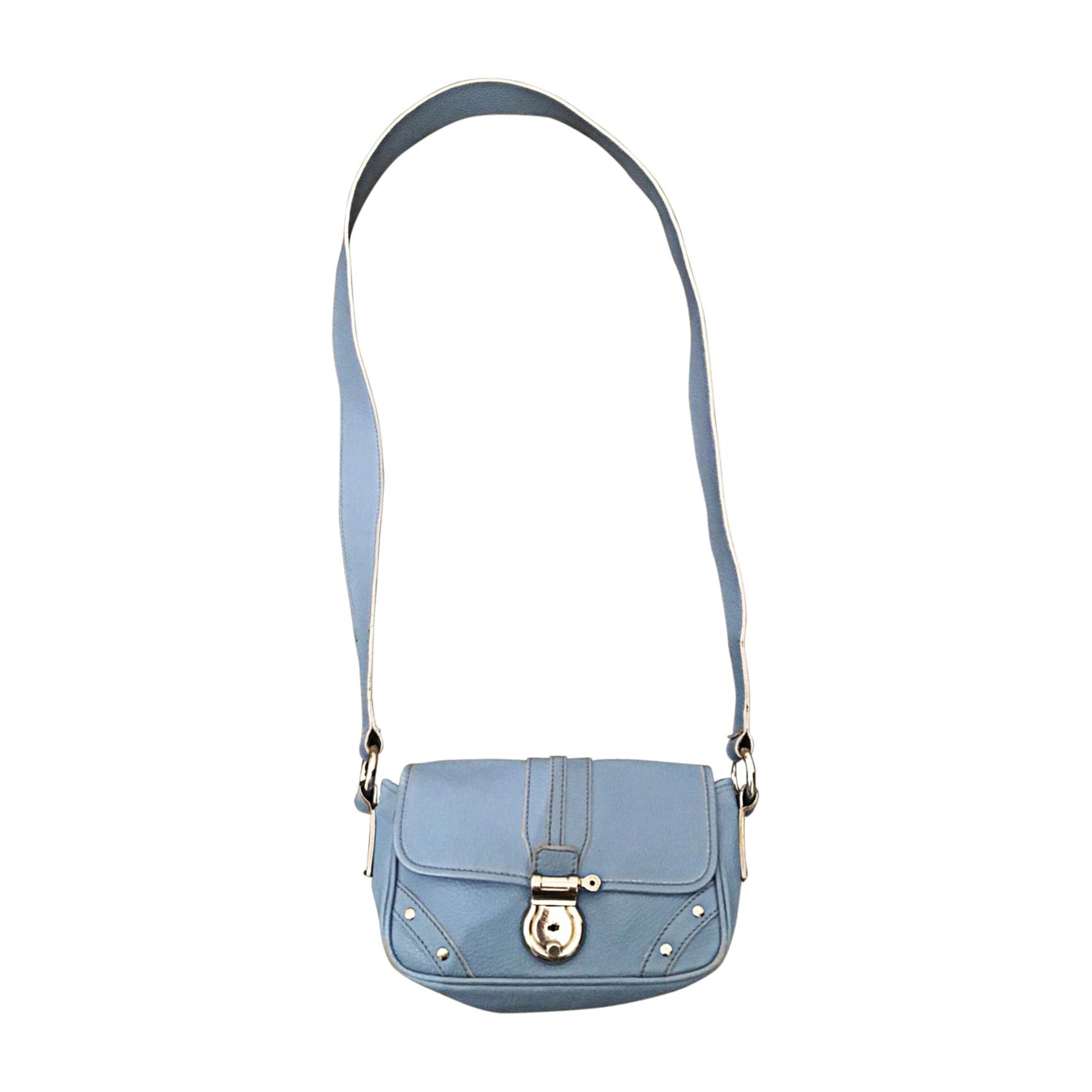 Leather Shoulder Bag BURBERRY Baby blue