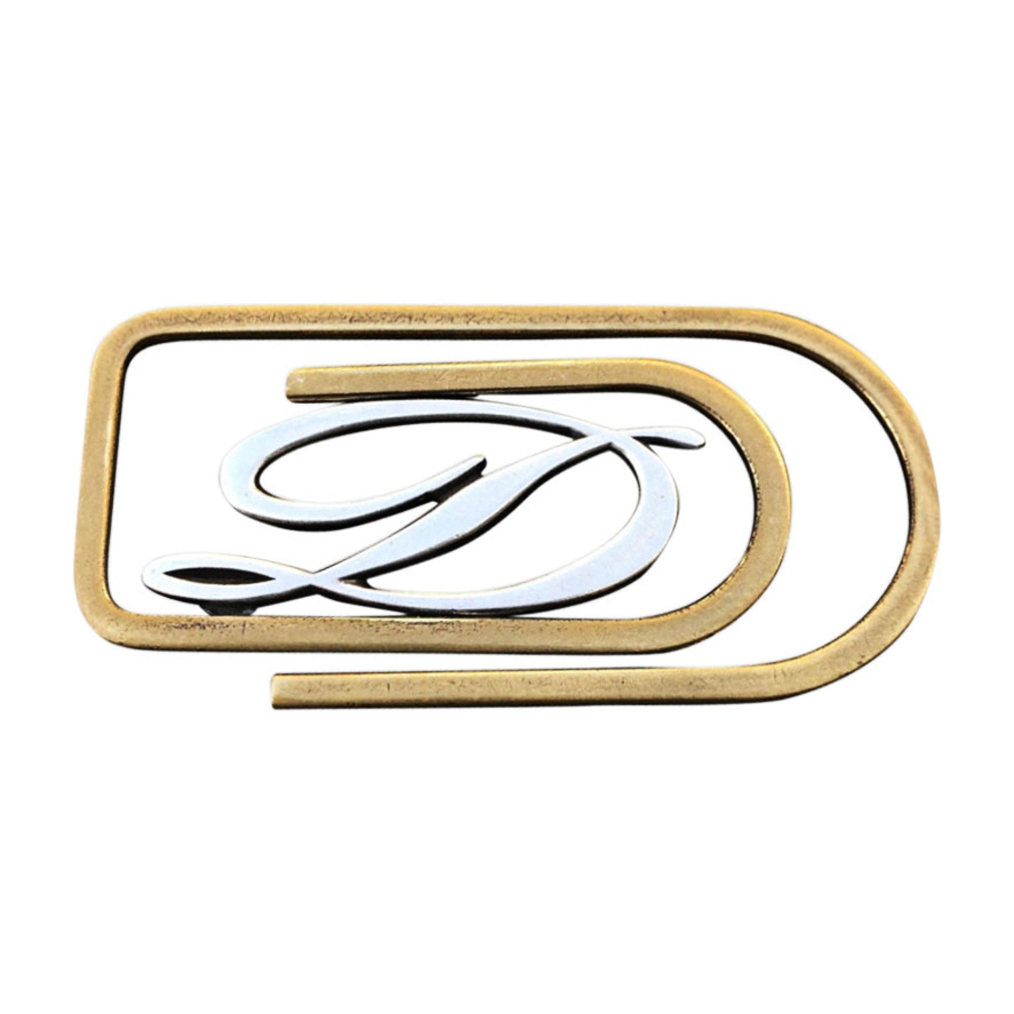 Porte-cartes ST DUPONT plaqué or & argent doré