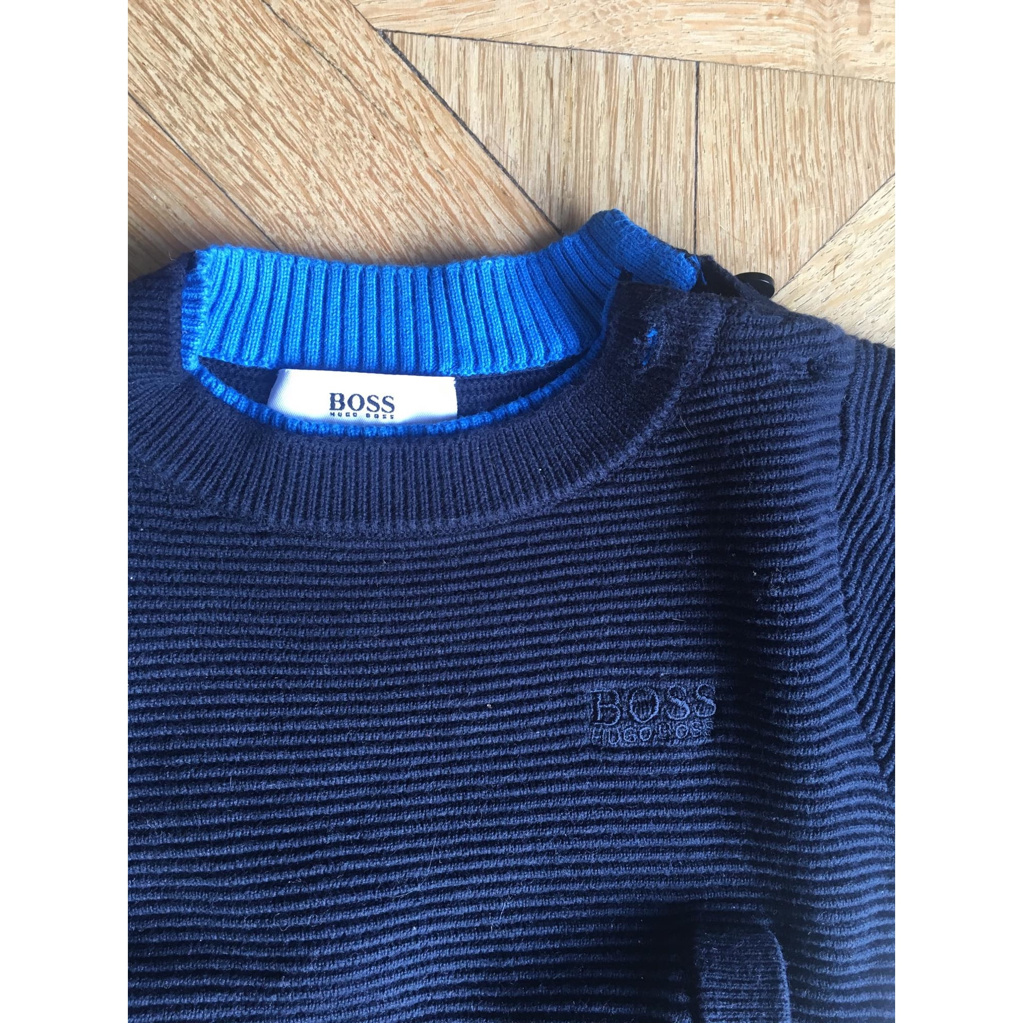 0d83eddc520ff Pull HUGO BOSS coton bleu 12 mois