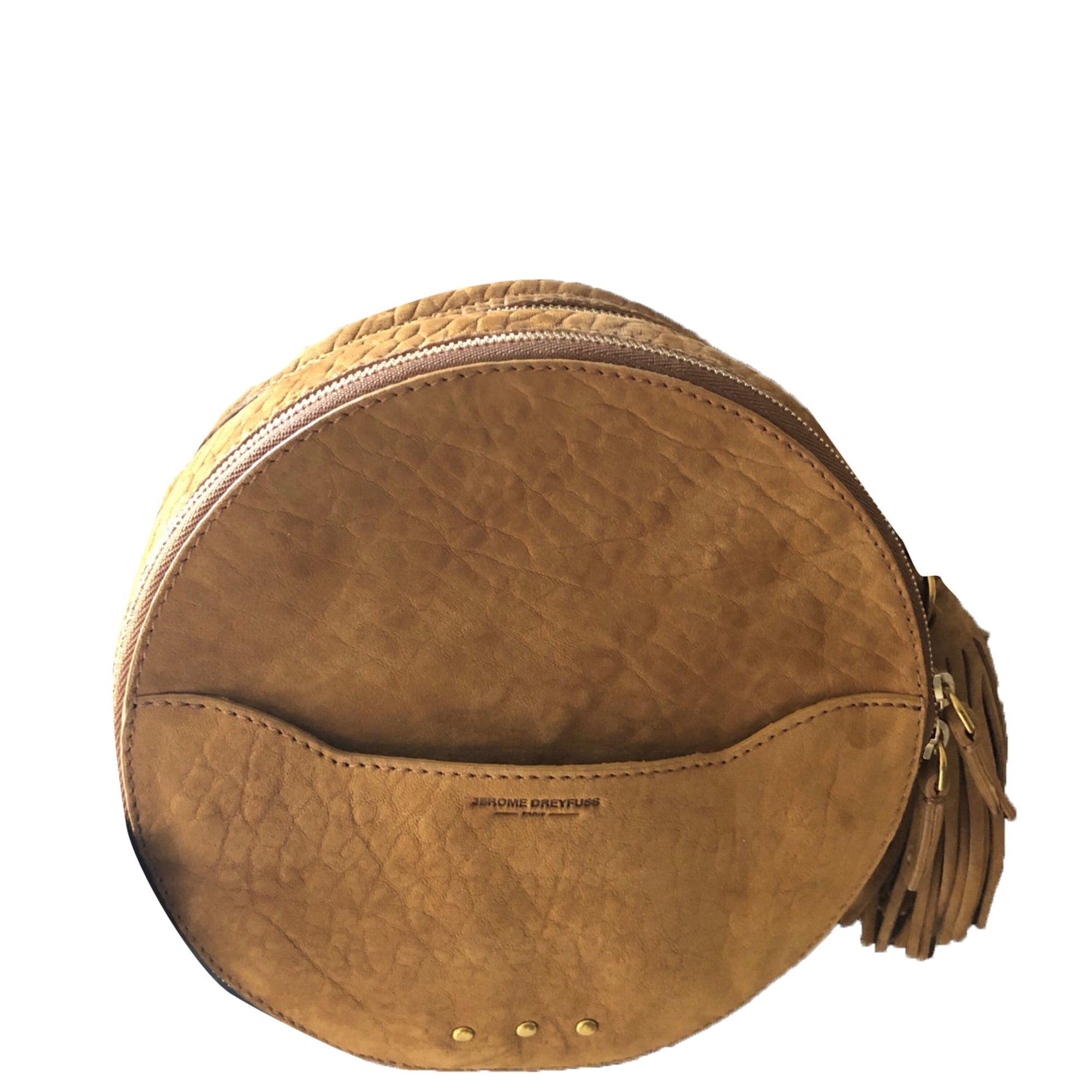 Leather Shoulder Bag JEROME DREYFUSS Beige, camel