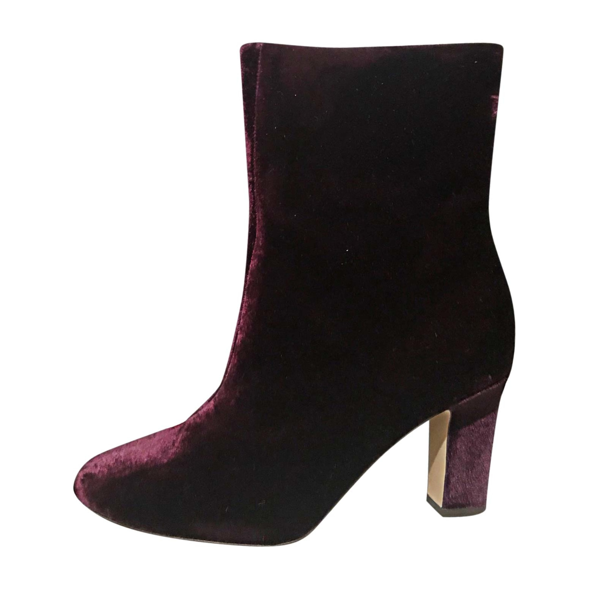 Wedge Ankle Boots RALPH LAUREN Red, burgundy
