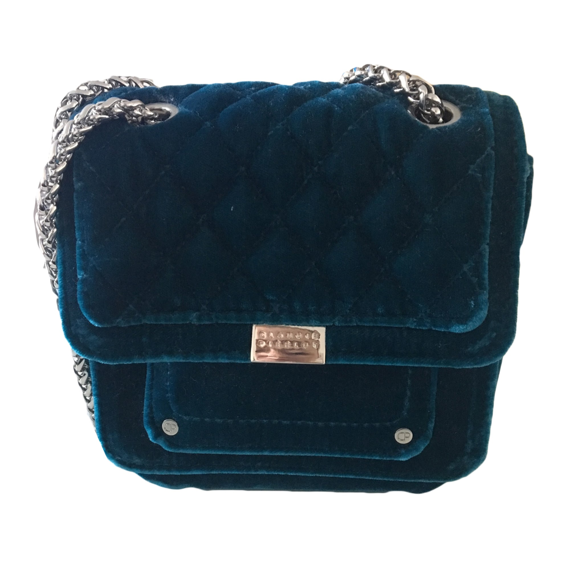 Non-Leather Shoulder Bag CLAUDIE PIERLOT Blue, navy, turquoise