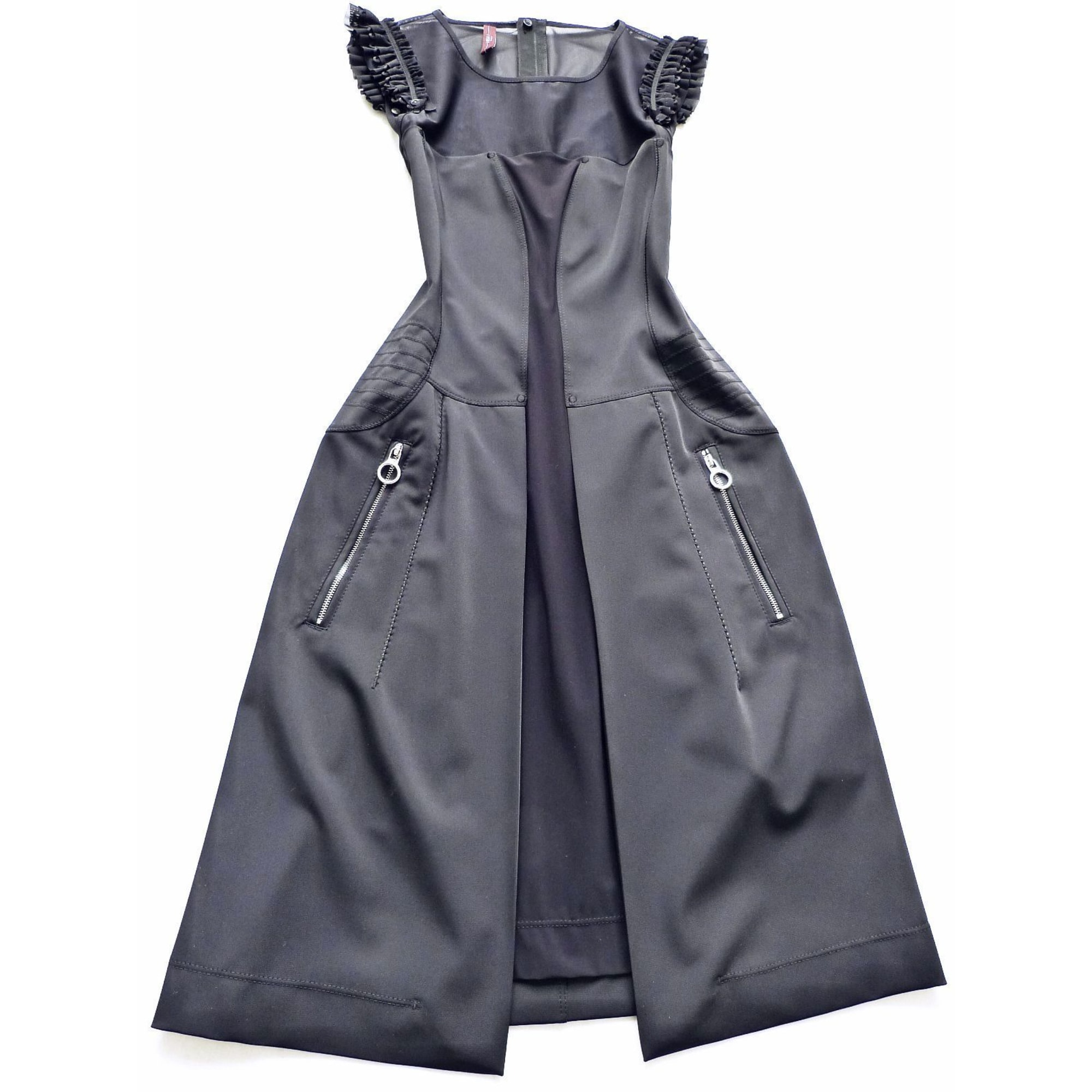Robe mi-longue HIGH Noir