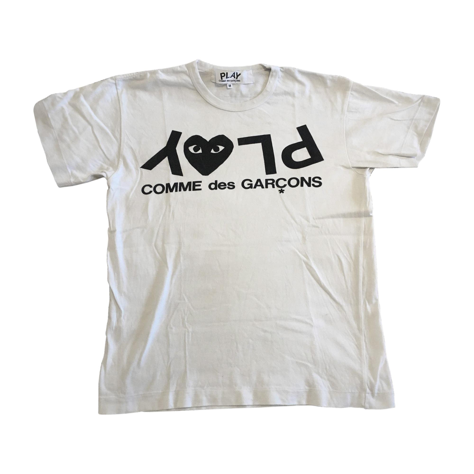 a3b3abd31ca01 Tee-shirt COMME DES GARÇONS PLAY Blanc, blanc cassé, écru