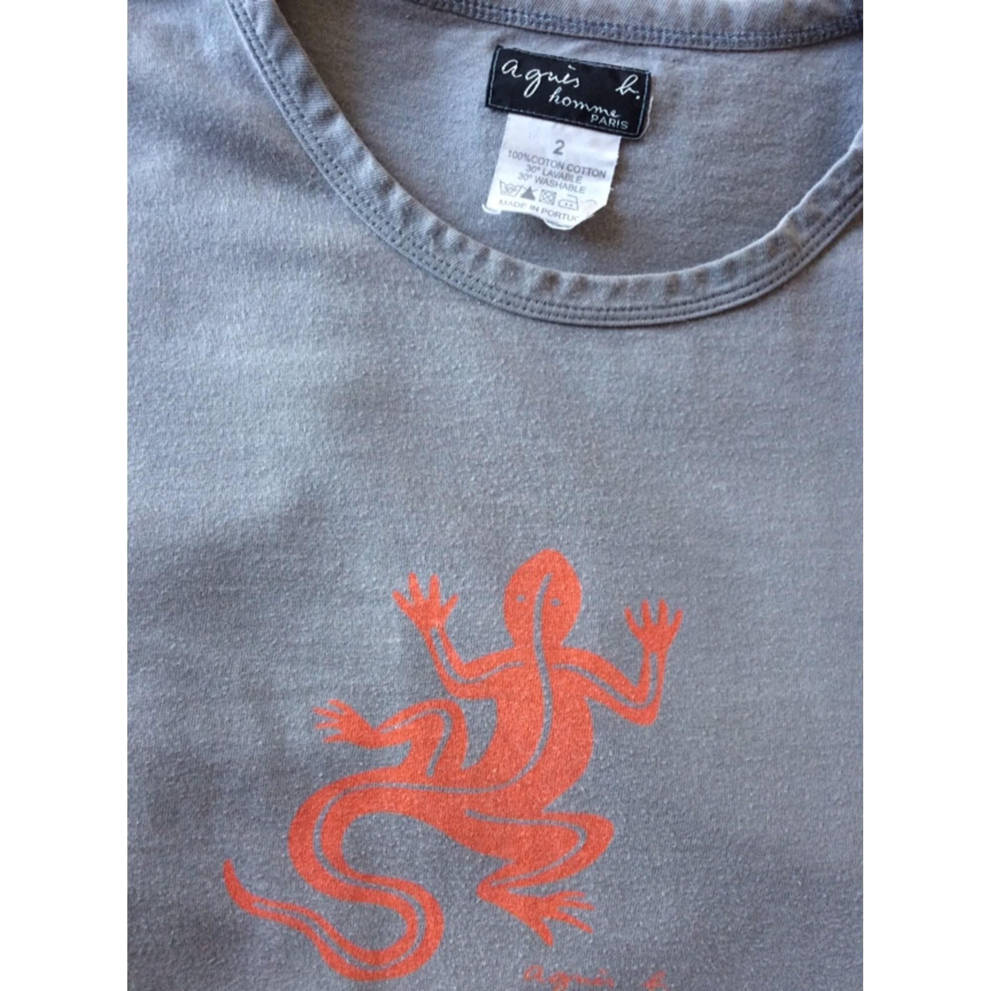 Tee-shirt AGNÈS B Gris, anthracite