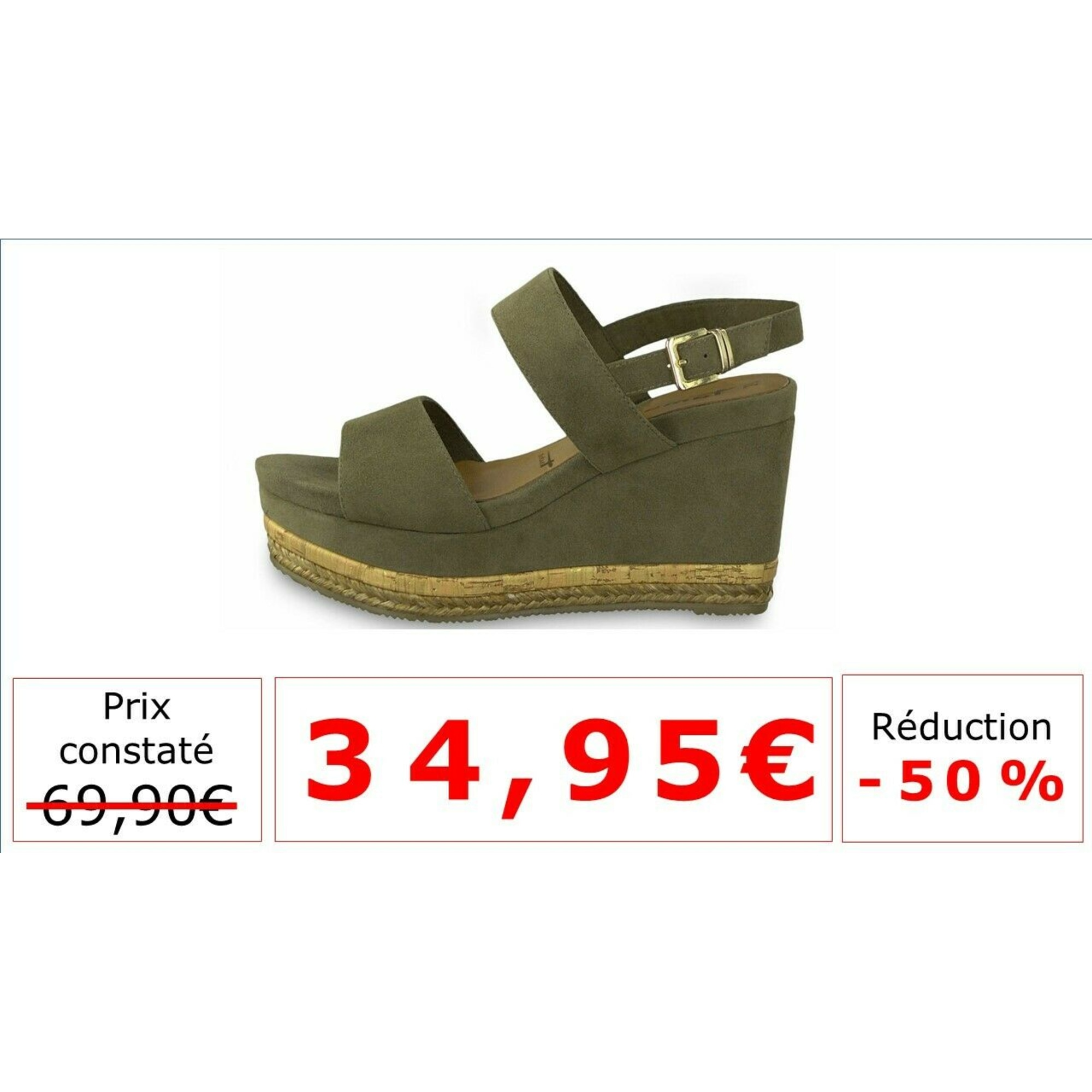 Sandales compensées TAMARIS Vert