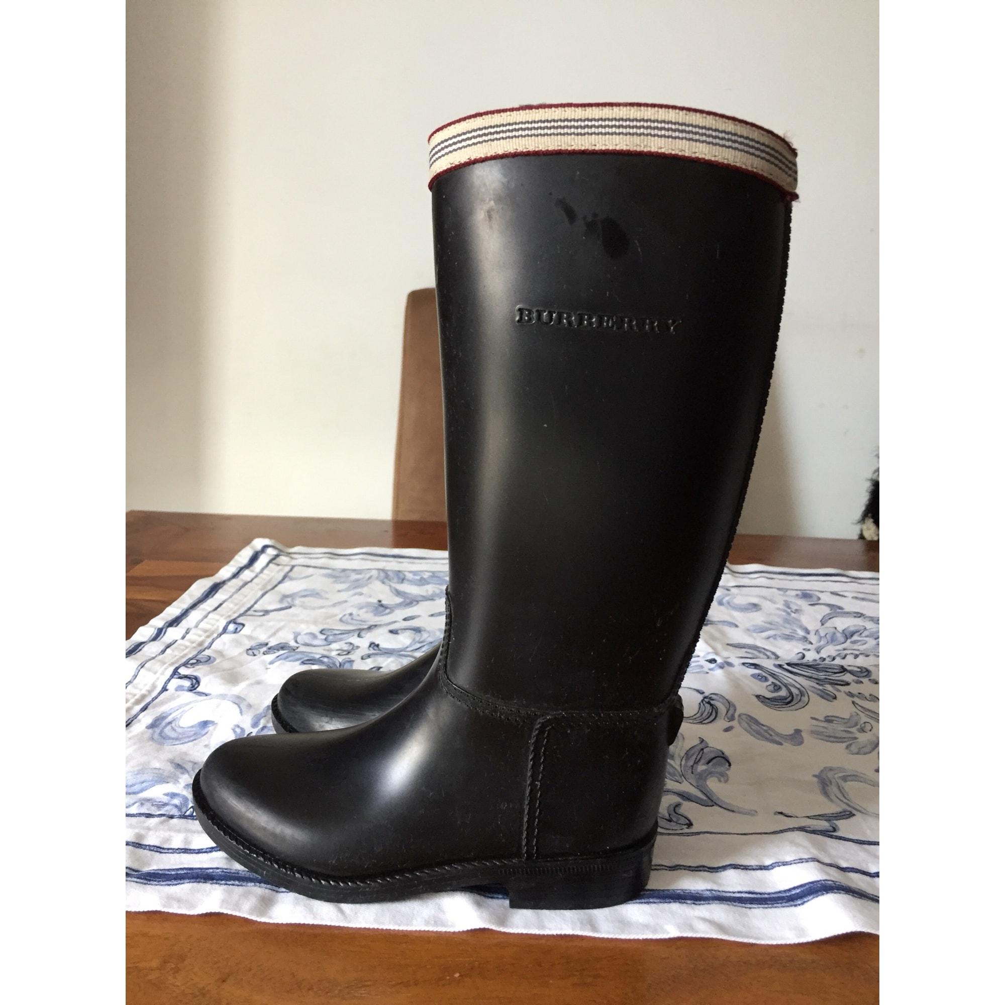 Bottes de pluie BURBERRY caoutchouc noir 28