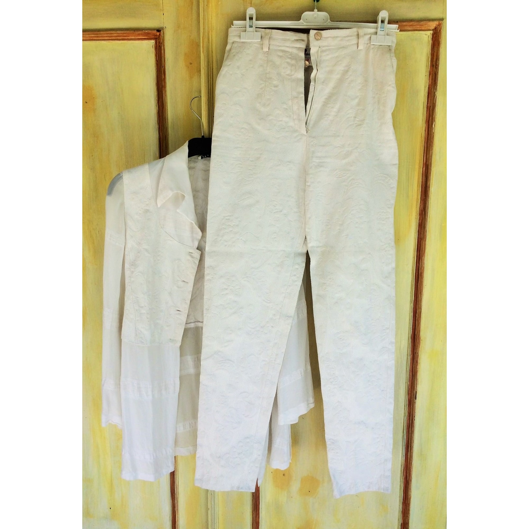 Tailleur pantalon INFINITIF Blanc, blanc cassé, écru