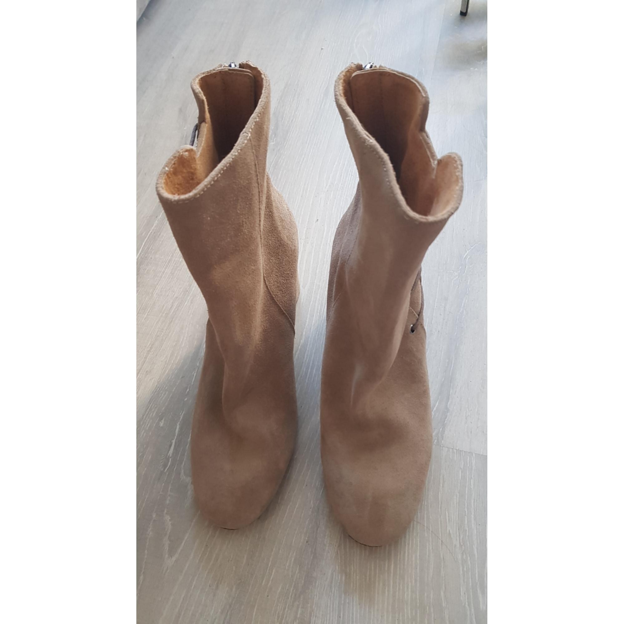 Bottines & low boots à compensés MORGAN Beige, camel