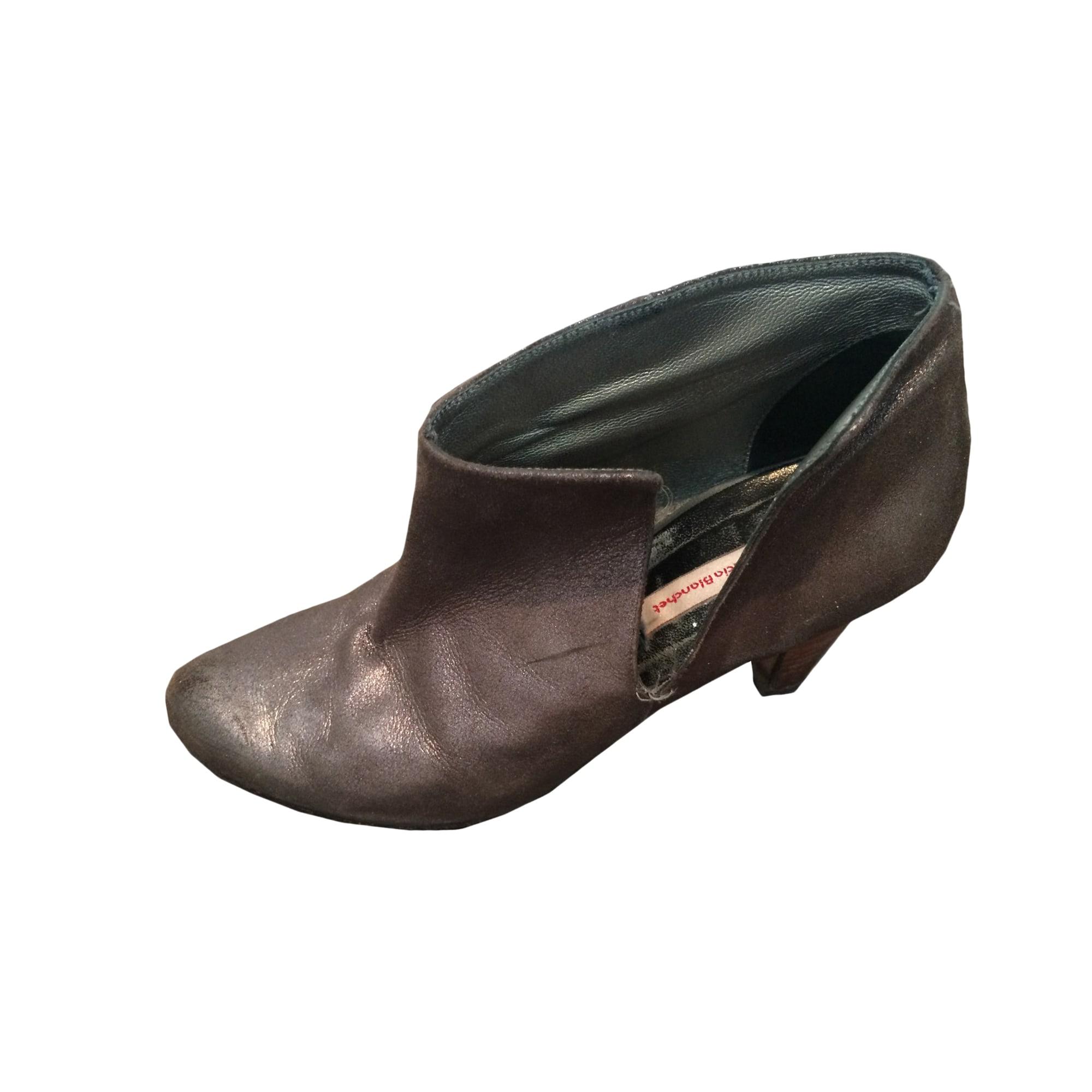 Bottines & low boots à talons PATRICIA BLANCHET Doré, bronze, cuivre